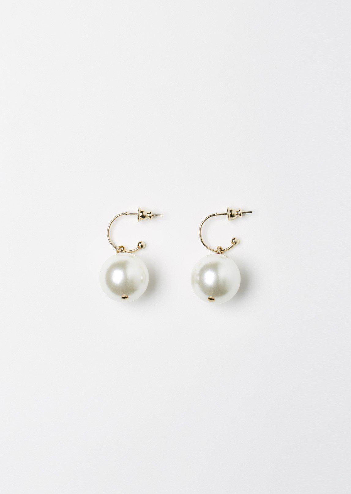 Simone Rocha Little Gold Drop Earring in Pearl (Metallic)