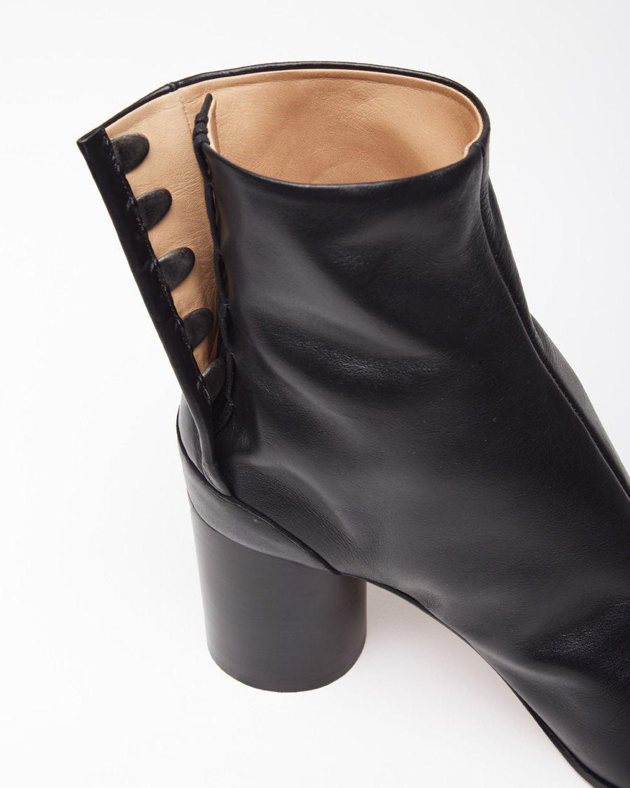 Maison Margiela Leather Sock Boot in Black