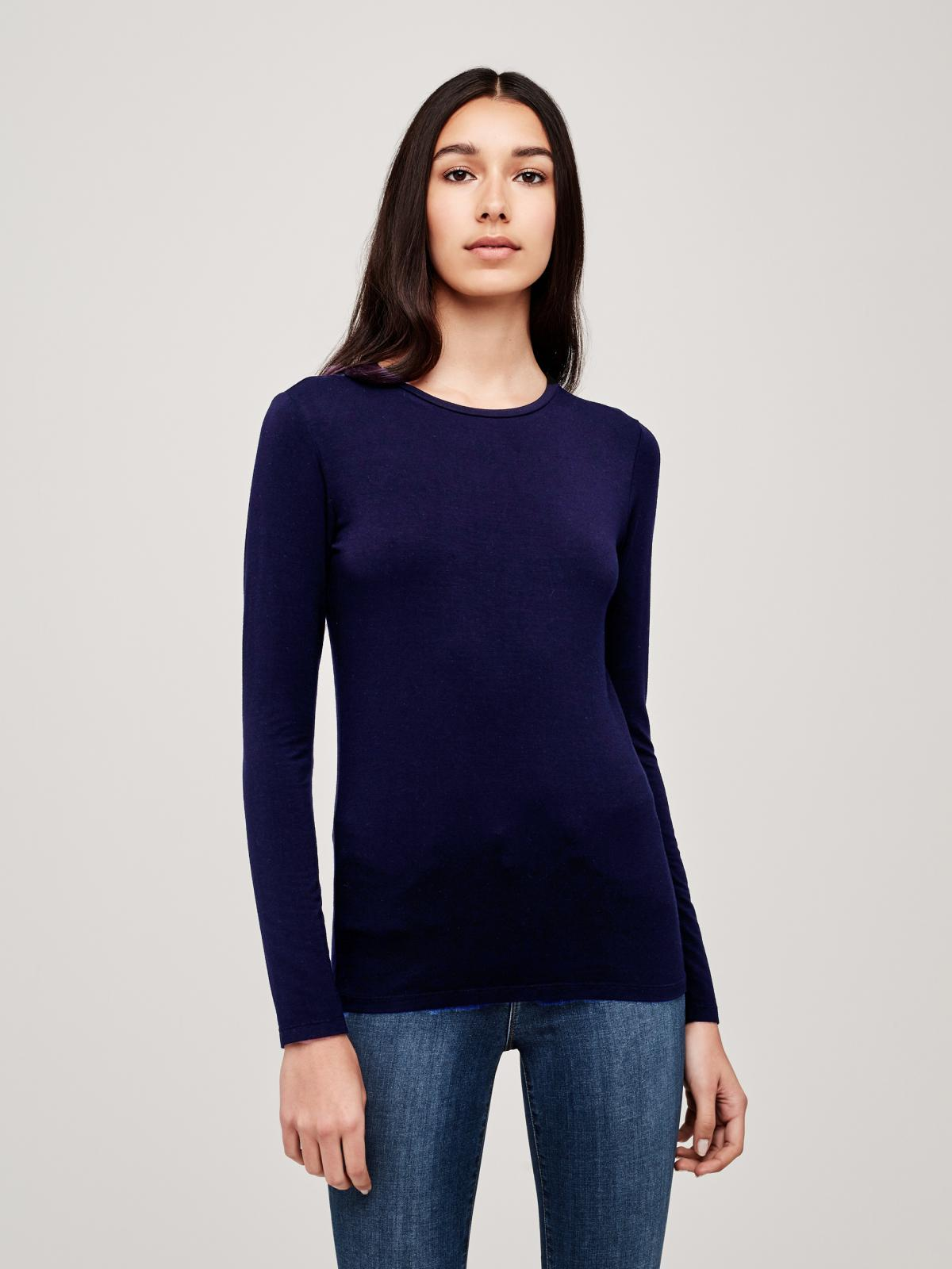 fb34c5e0f Lyst - L'Agence Tess Long Sleeve Tee in Blue