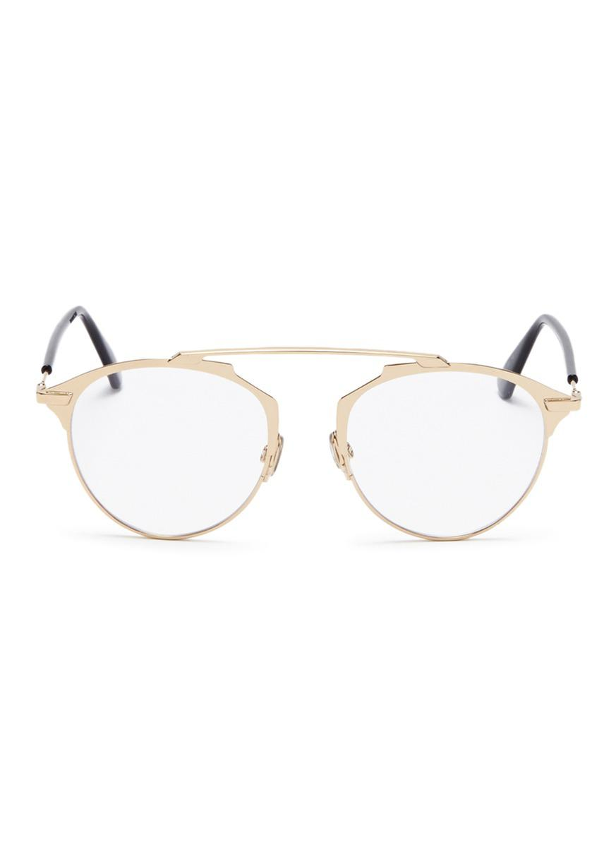2a799f493efc Lyst - Dior   So Real  Metal Panto Optical Glasses in Metallic