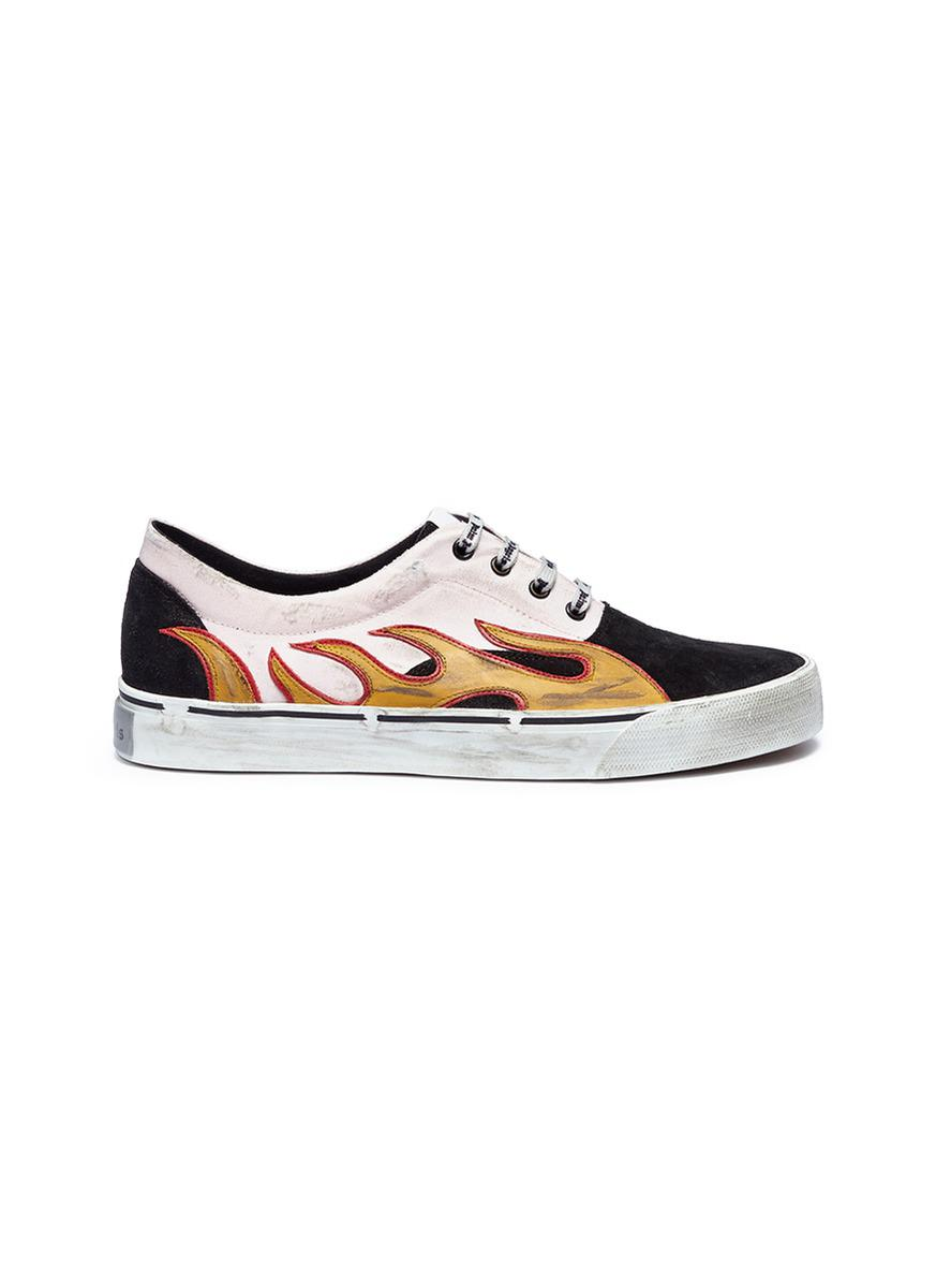 Palm Angels Canvas 'distressed Flames