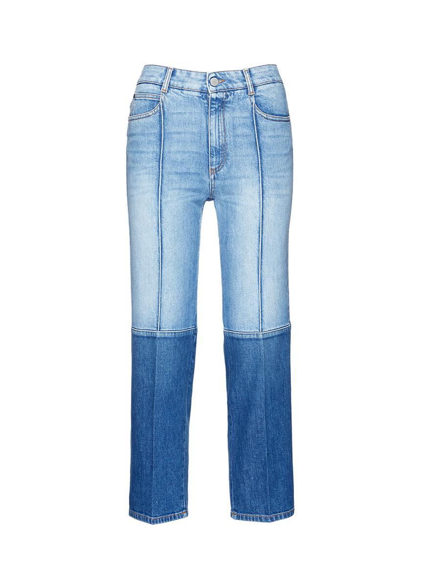 two-tone straight leg jeans - Blue Stella McCartney moHjb