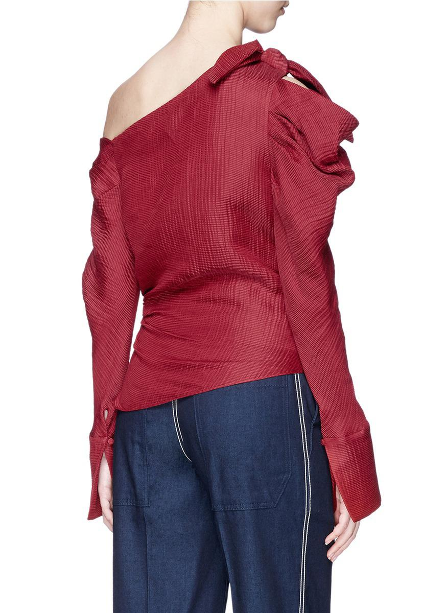 803ac09a09bfb Lyst - Hellessy  phacelia  Asymmetric One-shoulder Top in Red