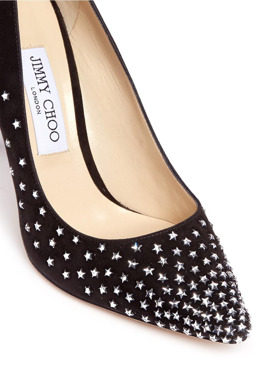 Jimmy choo Romy crystal-embellished suede flats