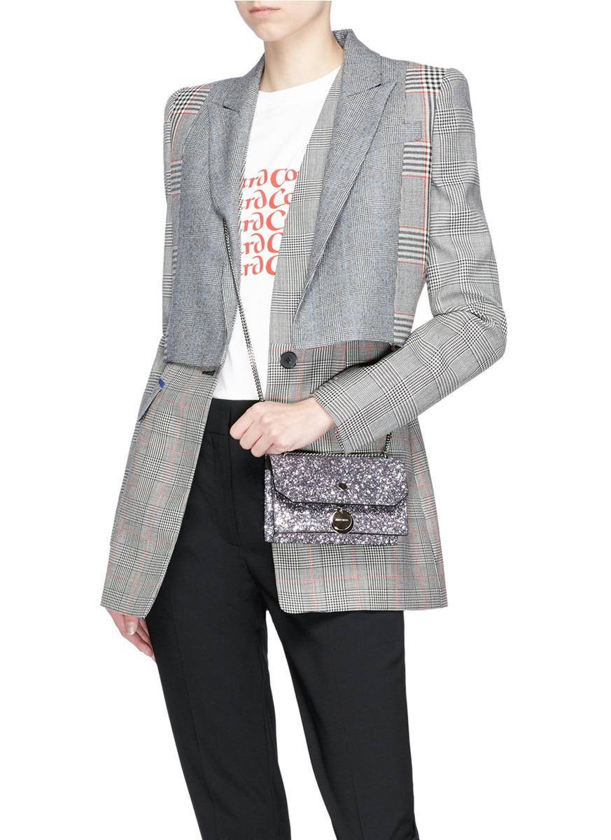 Jimmy Choo 'finley' Star Coarse Glitter Crossbody Bag