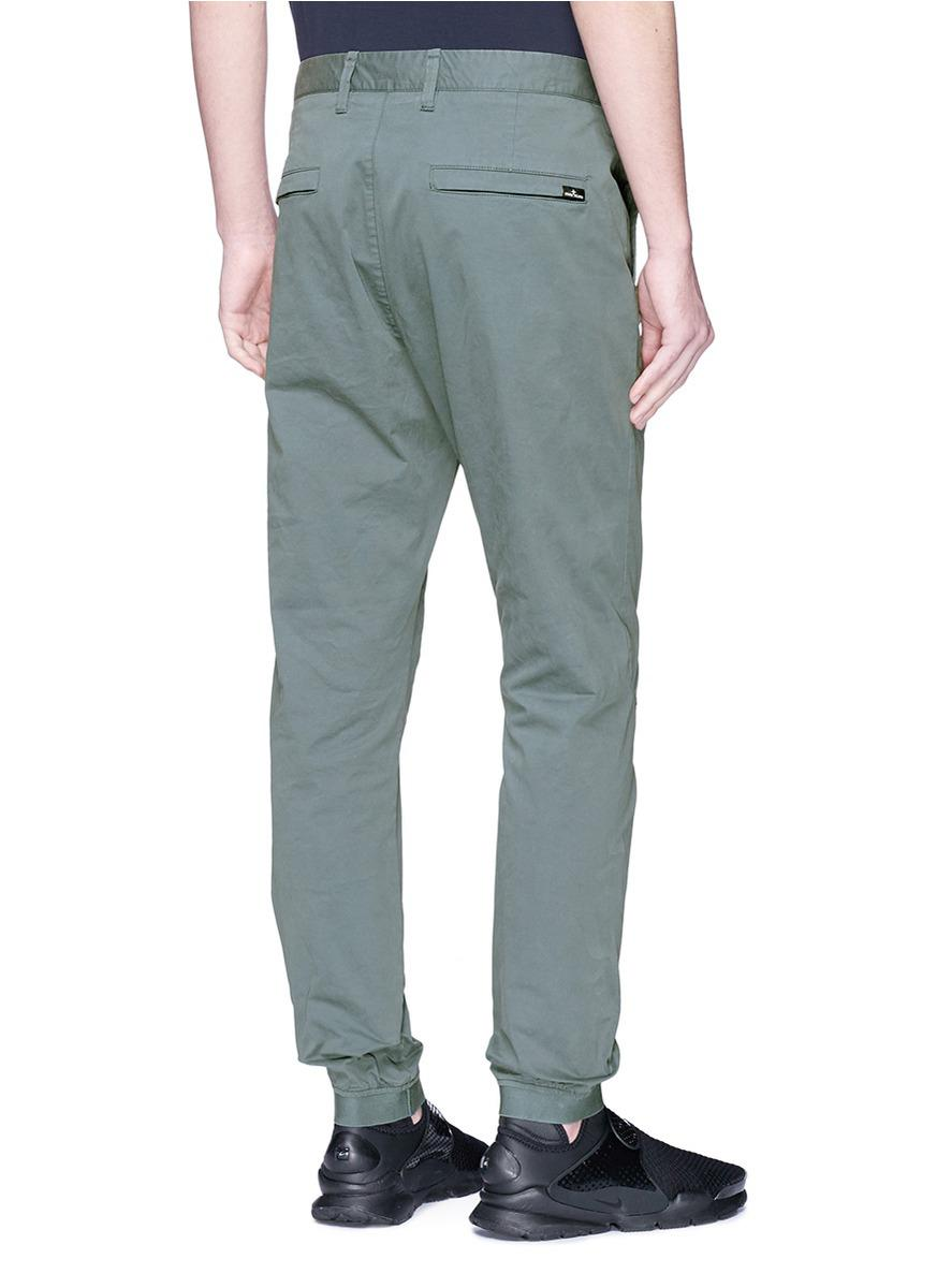 Stone Island Cotton Tapered Leg Chinos in Grey (Grey) for Men
