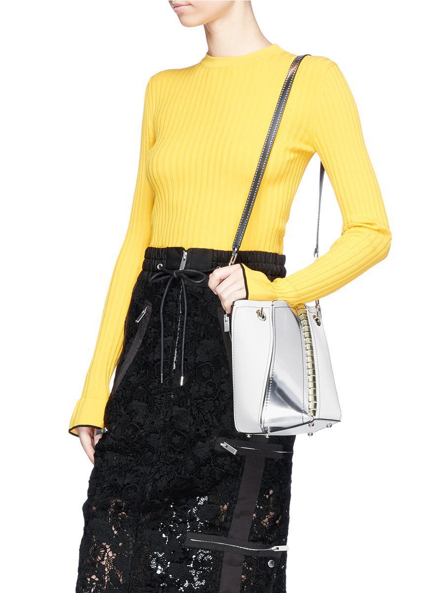 Proenza Schouler Mini White Leather Hex Bucket Bag Cheap Collections Sale Shop For Recommend hMXpm