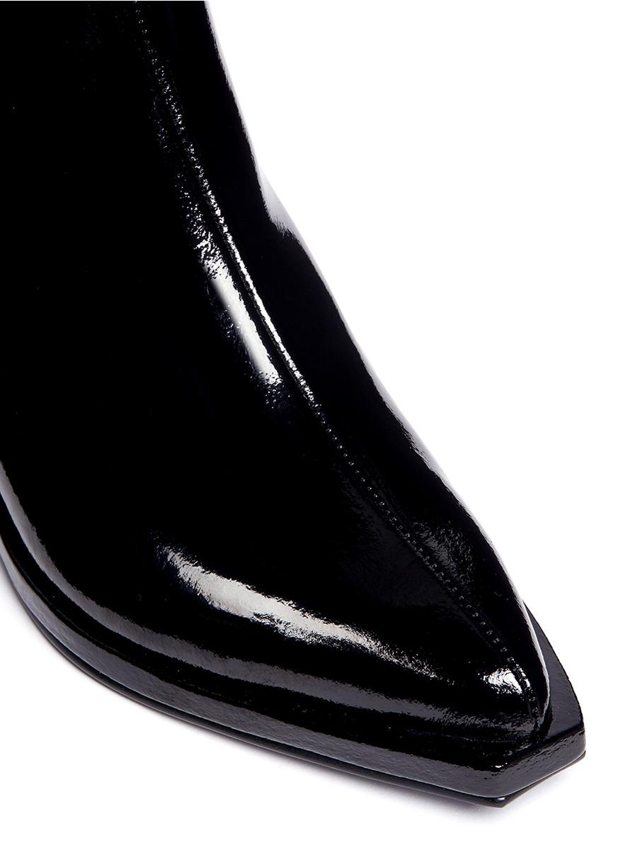 Reike Nen Patent Leather Chelsea Boots in Black