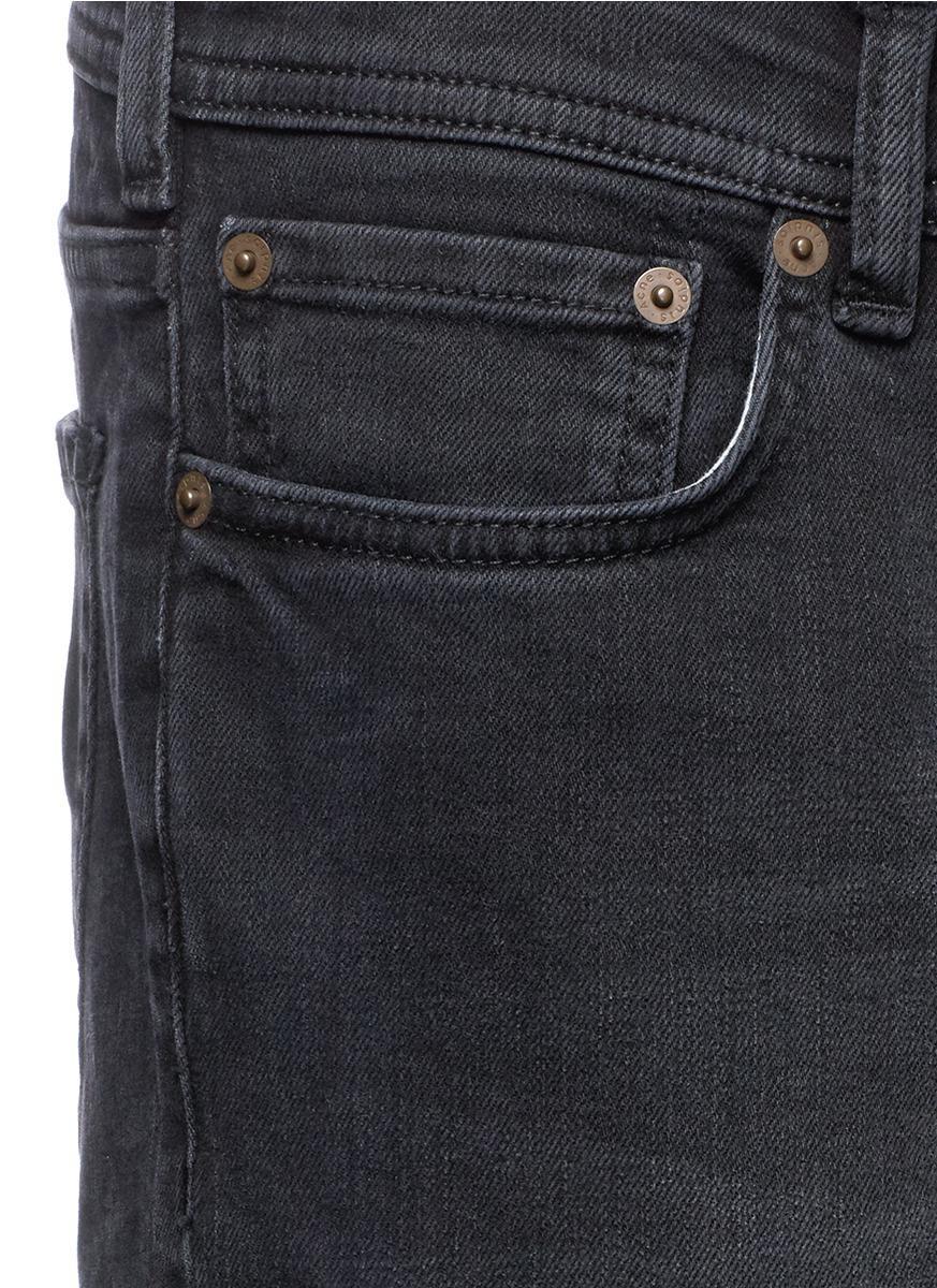 Acne Studios Denim 'blå Konst North' Slim Fit Washed Jeans in Blue for Men