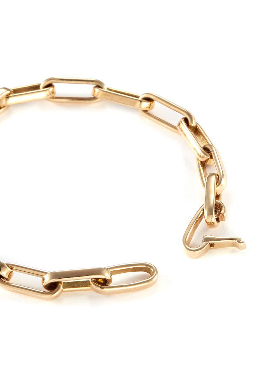 e929866beb395 Women's Metallic 14k Yellow Gold Chain Link Bracelet - Large
