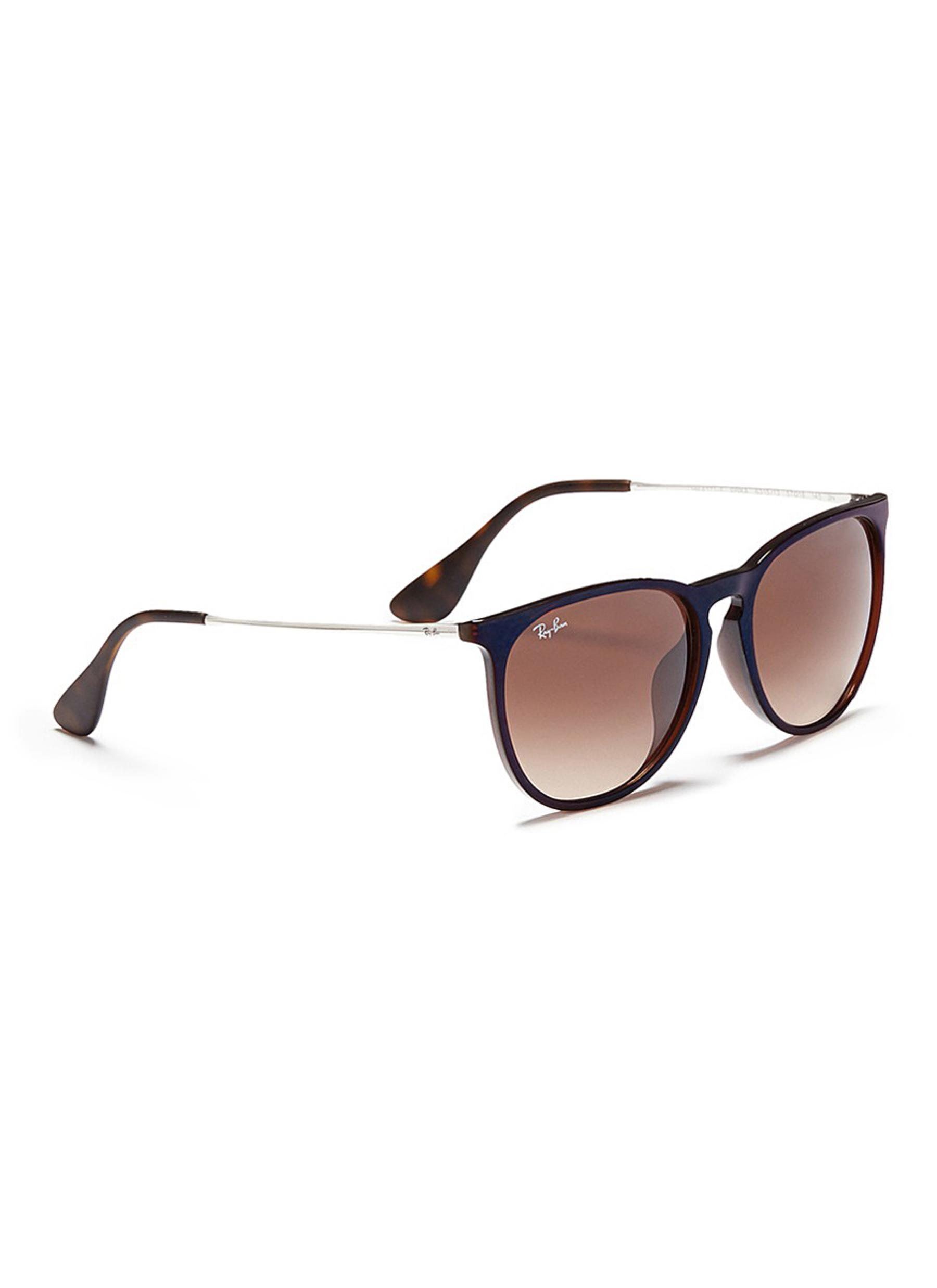 Ray-Ban Synthetic 'erika' Nylon Front Metal Temple Sunglasses in Brown