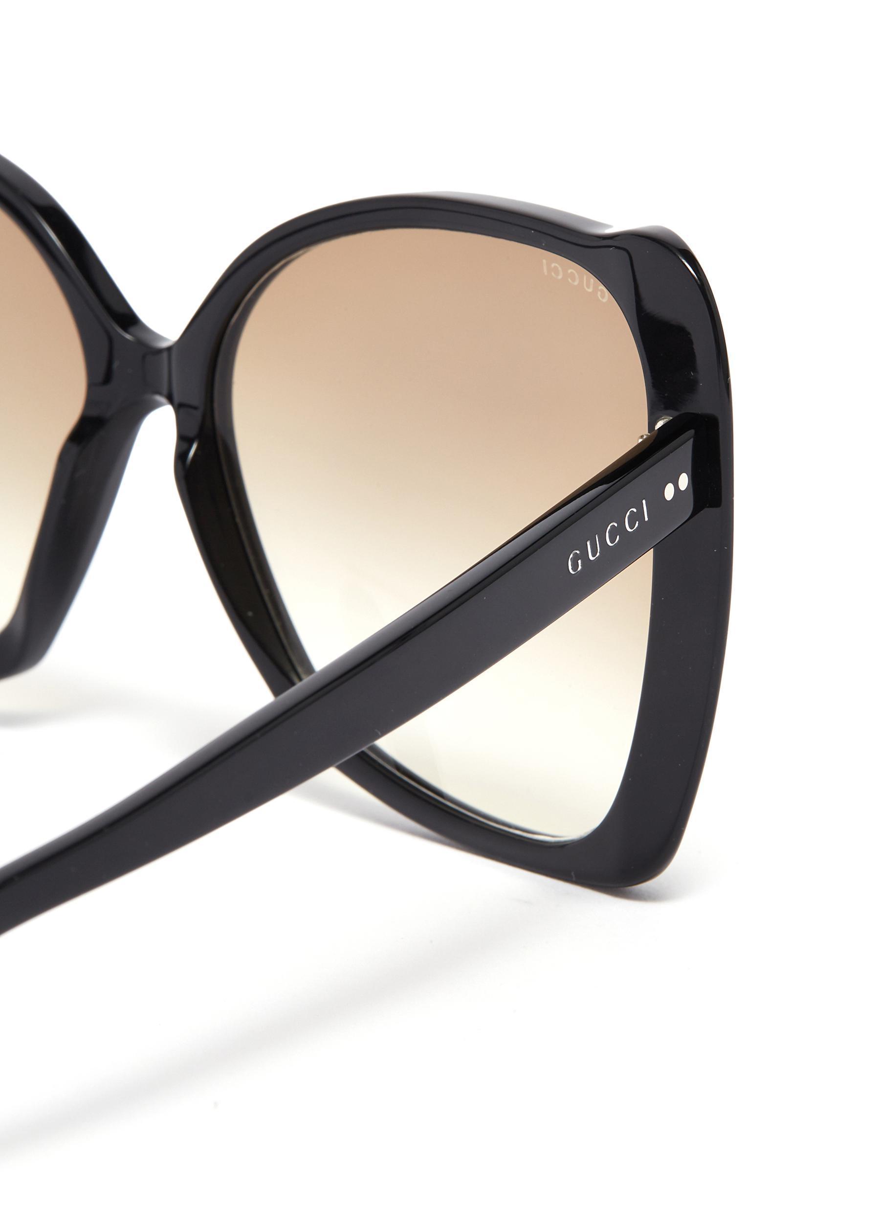 f4316859704d Gucci - Black Oversized Acetate Butterfly Sunglasses - Lyst. View fullscreen
