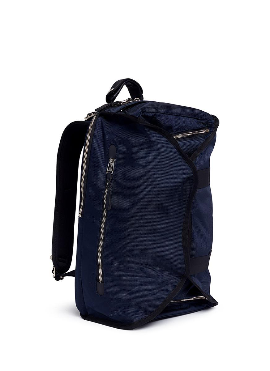 Lorinza Synthetic Buckled Ballistic Nylon Backpack in Blue for Men