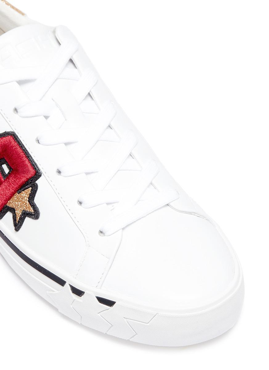 Ash 'next' Logo Patch Leather Sneakers in Red
