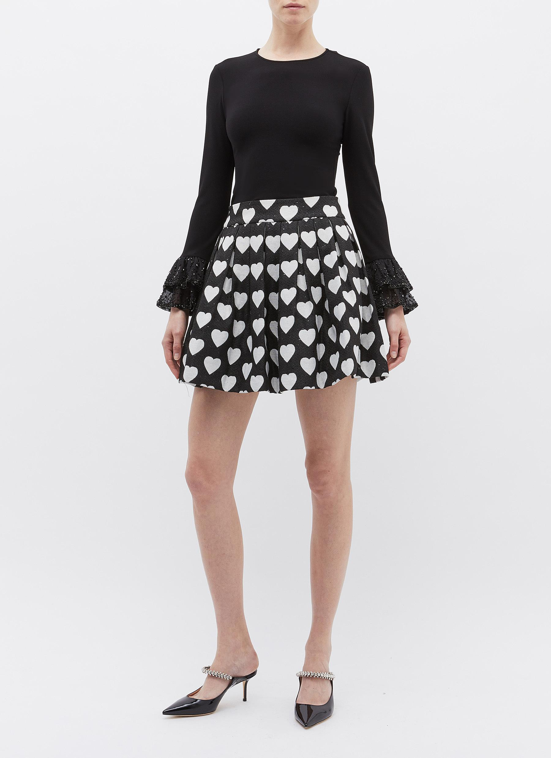 b2a6300001 Alice + Olivia 'fizer' Heart Jacquard Sequin Pleated Tweed Skirt in ...