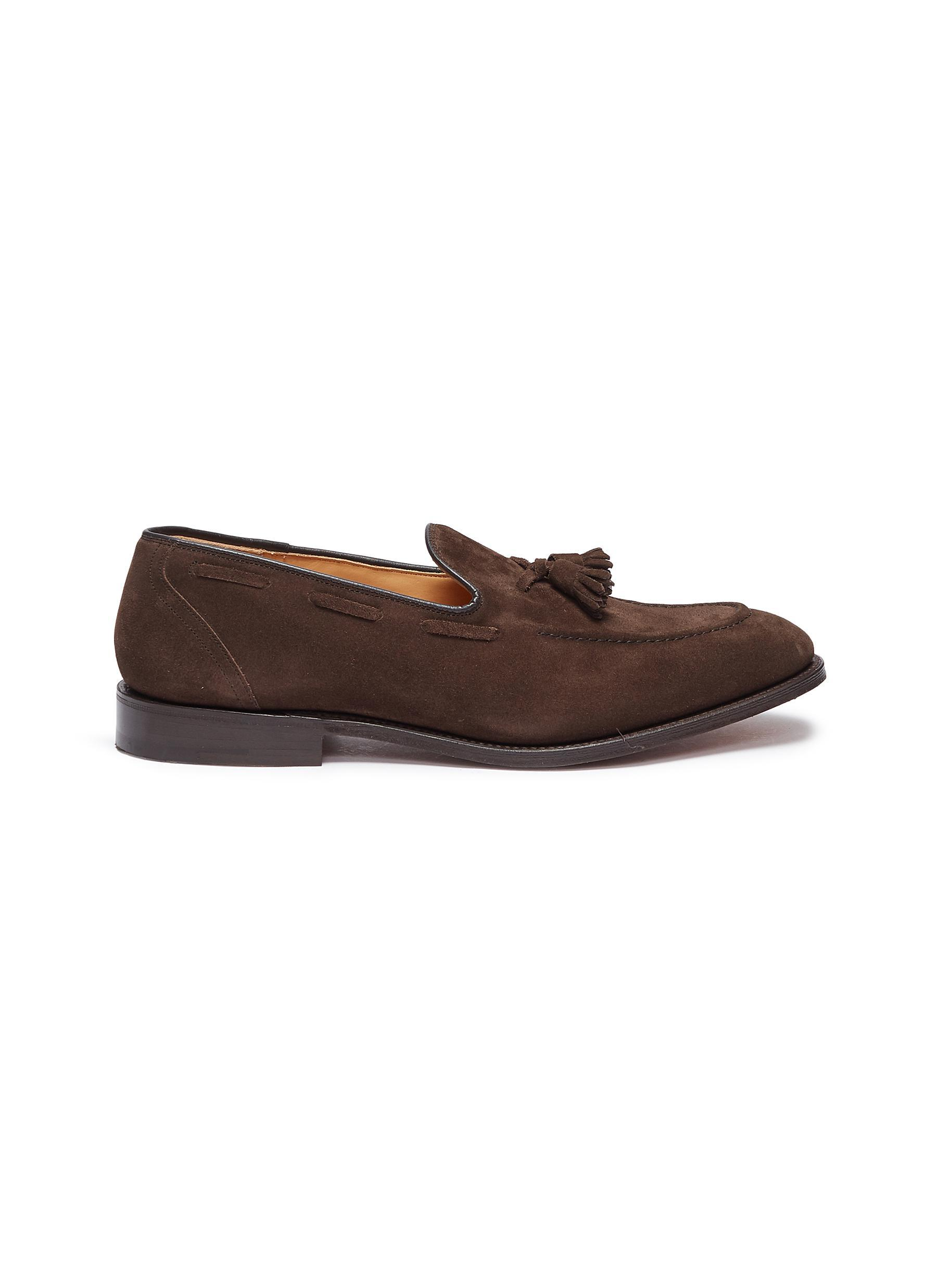 a5e2c10c617 Lyst - Church s  kingsley 2  Tassel Suede Loafers in Brown for Men