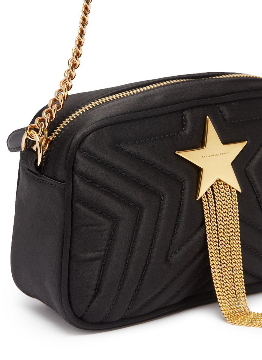 77e30f761889 Lyst - Stella McCartney  stella Star  Chain Tassel Mini Quilted ...