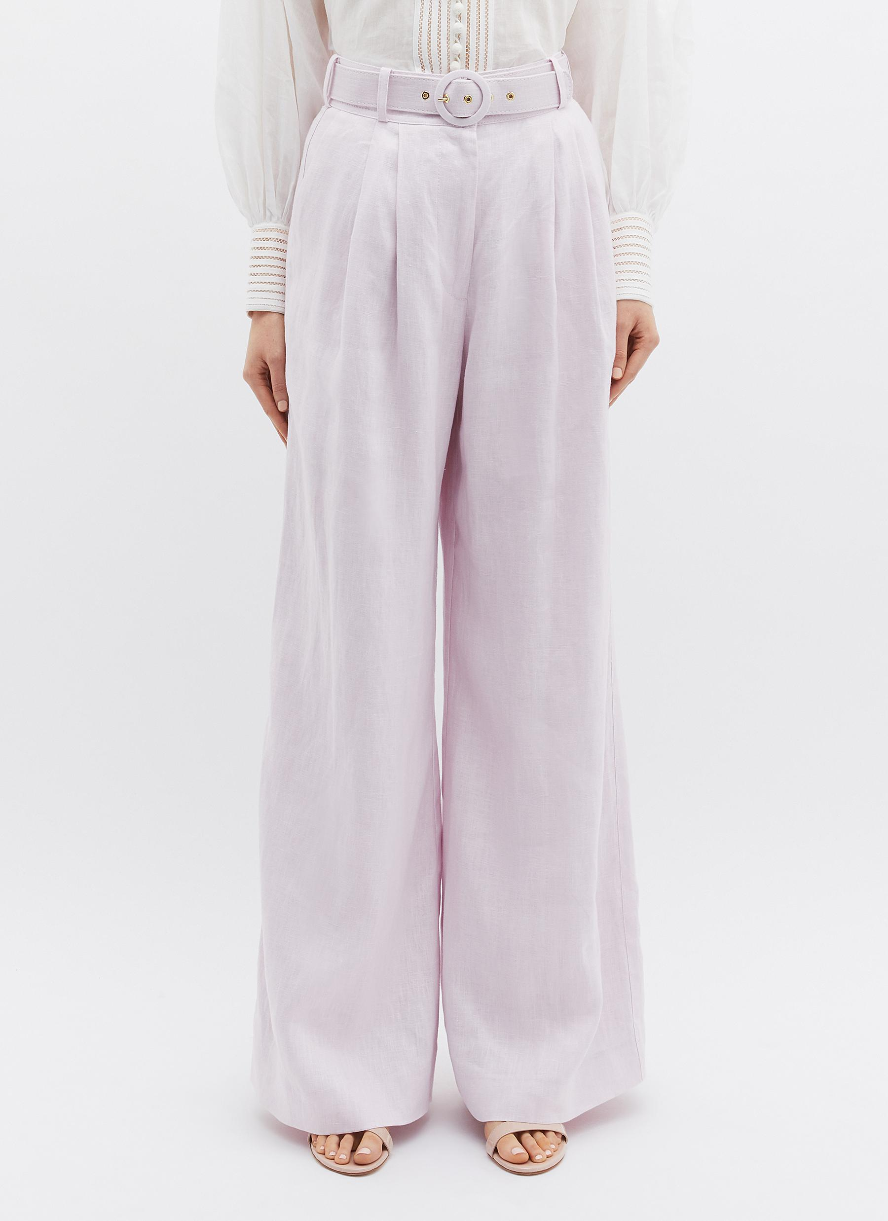 Zimmermann 'corsage Tailored' Belted Linen Wide Leg Pants in ...