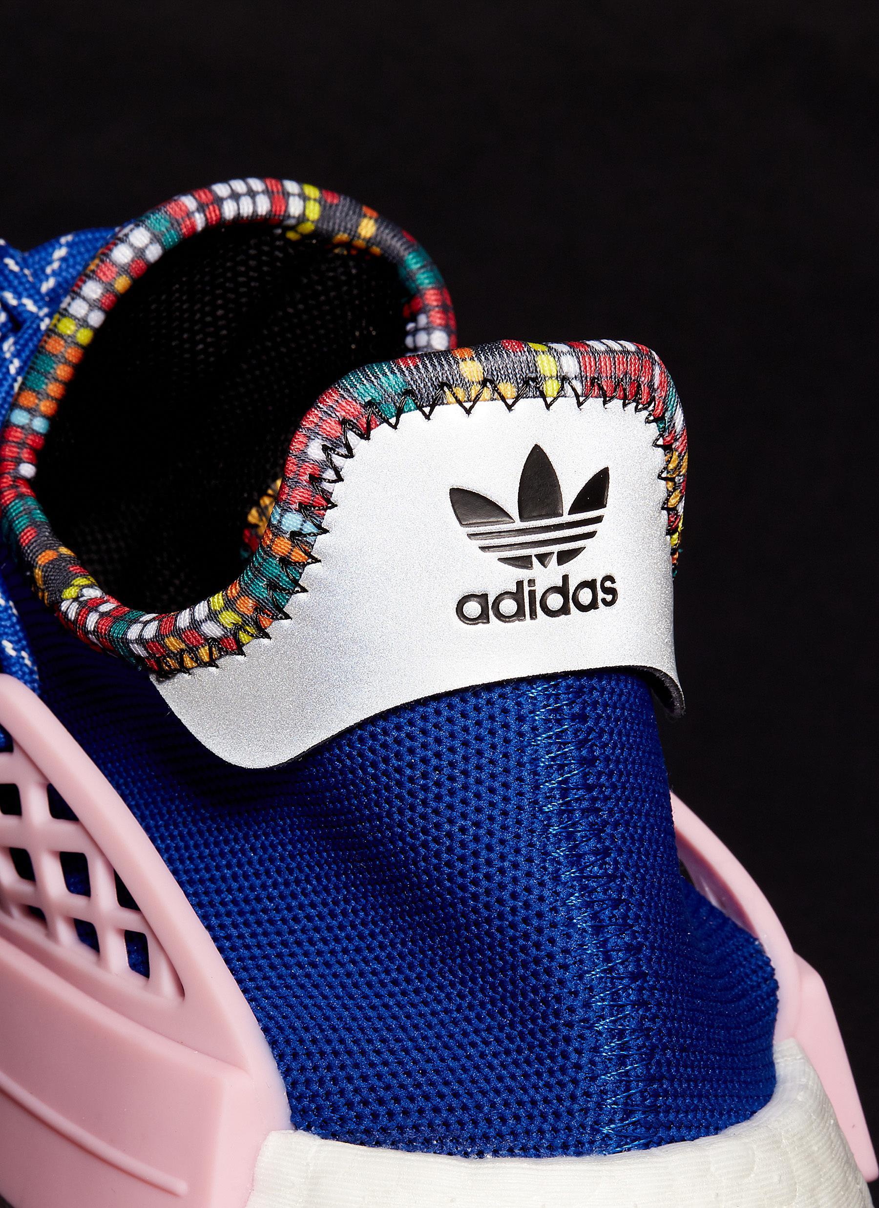 e12bb51579975 Adidas Originals - Blue  solarhu Nmd  Slogan Embroidered Primeknit Sneakers  for Men - Lyst. View fullscreen
