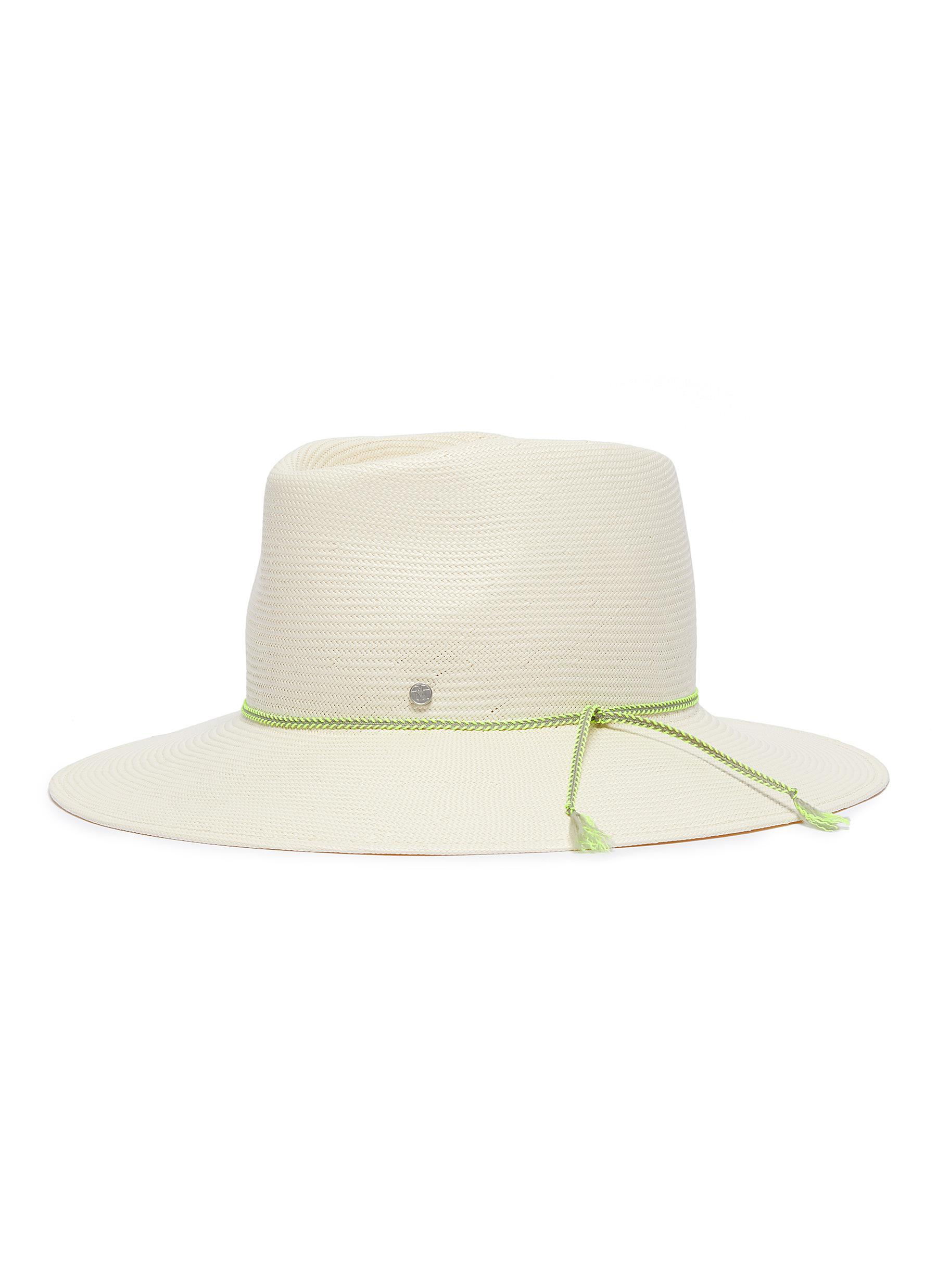 620c054c284c7 Lyst - Maison Michel  charles  Packable Straw Fedora Hat in White