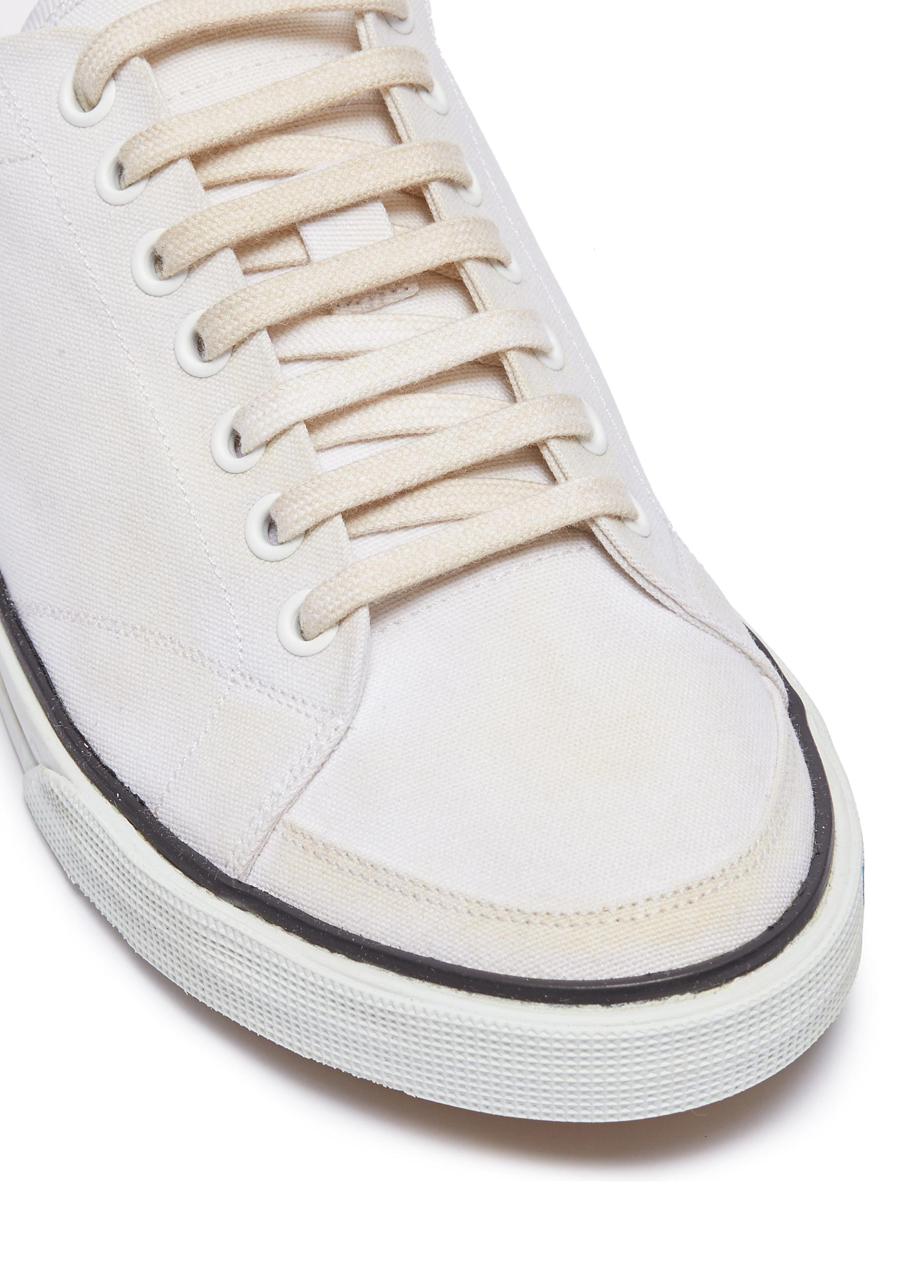 Midsole Canvas Sneakers in White