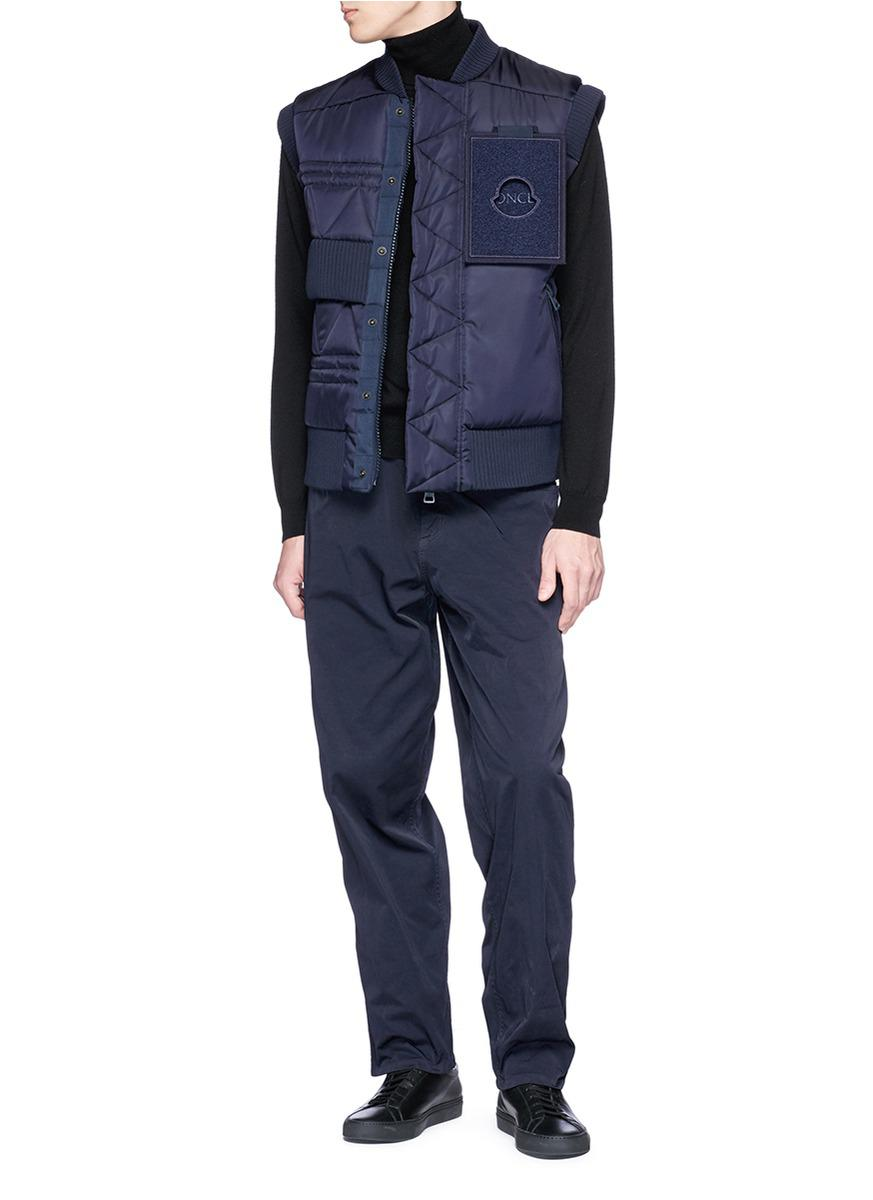 5b8f3245d Moncler Blue X Craig Green 'trish' Storm Flap Down Vest for men