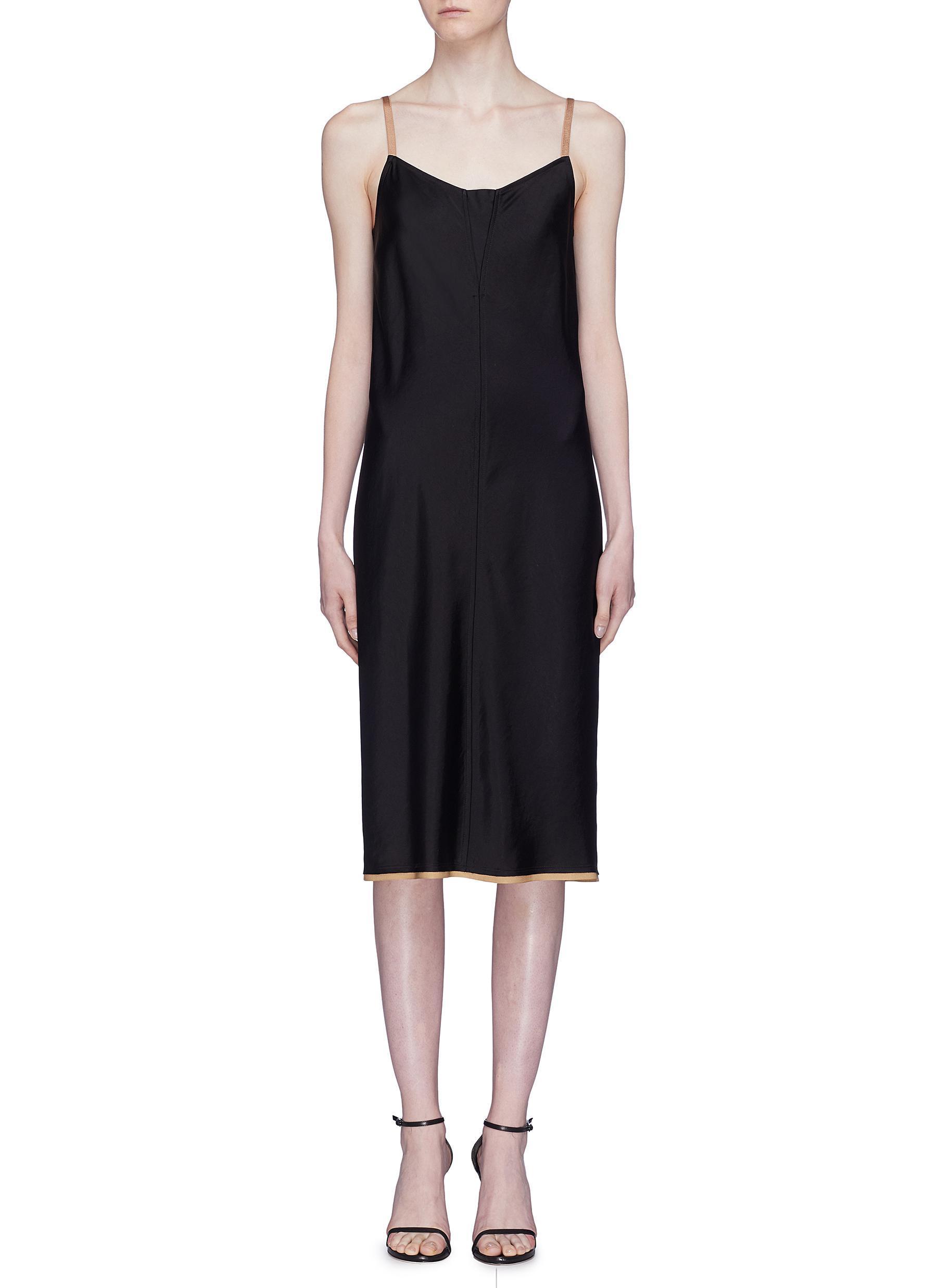 10b6c5844f52 T By Alexander Wang 'wash & Go' Contrast Trim Satin Slip Dress in ...