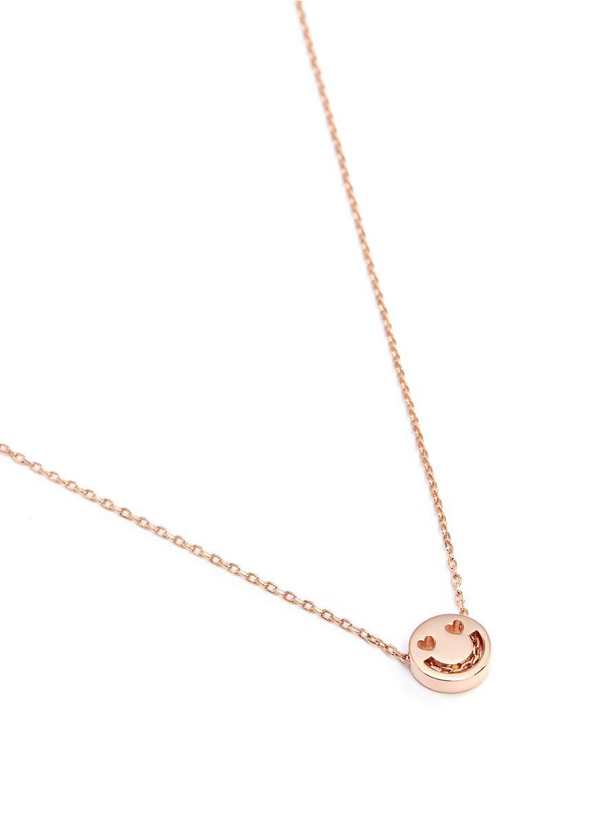 Ruifier 'smitten' 18k Rose Gold Pendant Necklace in Metallic