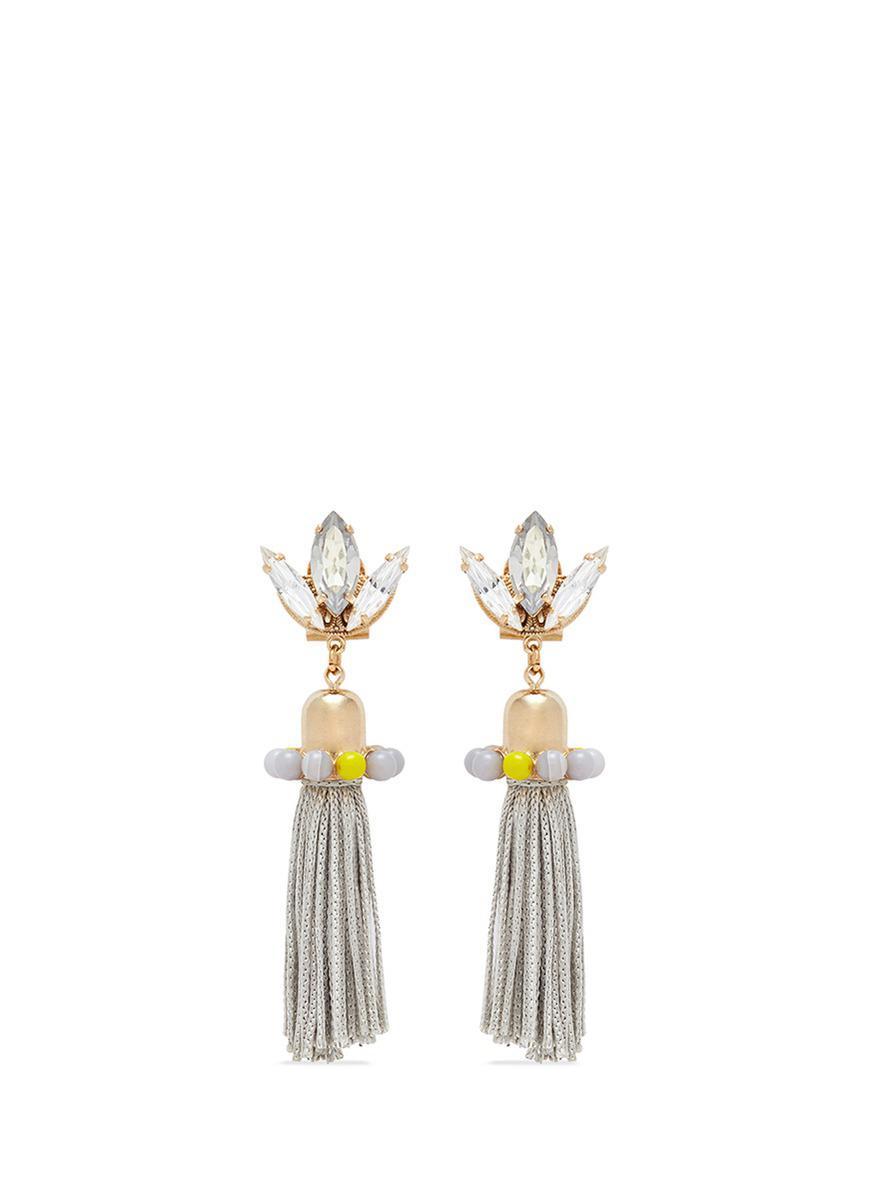 Hoop Earrings With Agate in Yellow Anton Heunis 13pe1c