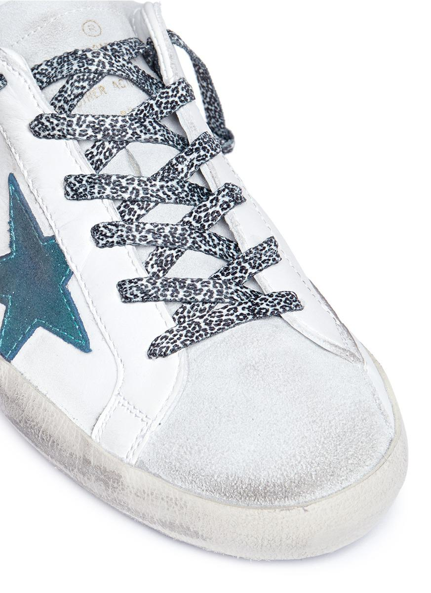 Golden Goose Deluxe Brand 'superstar' Glitter Star Patch Leather Suede Sneakers