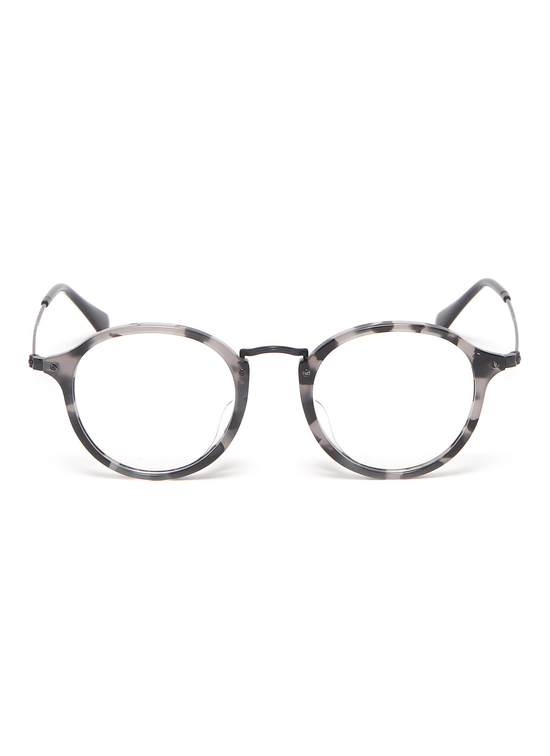 7cf1d36a0 Ray-Ban. Men's 'fleck' Tortoiseshell Acetate Rim Metal Round Optical Glasses