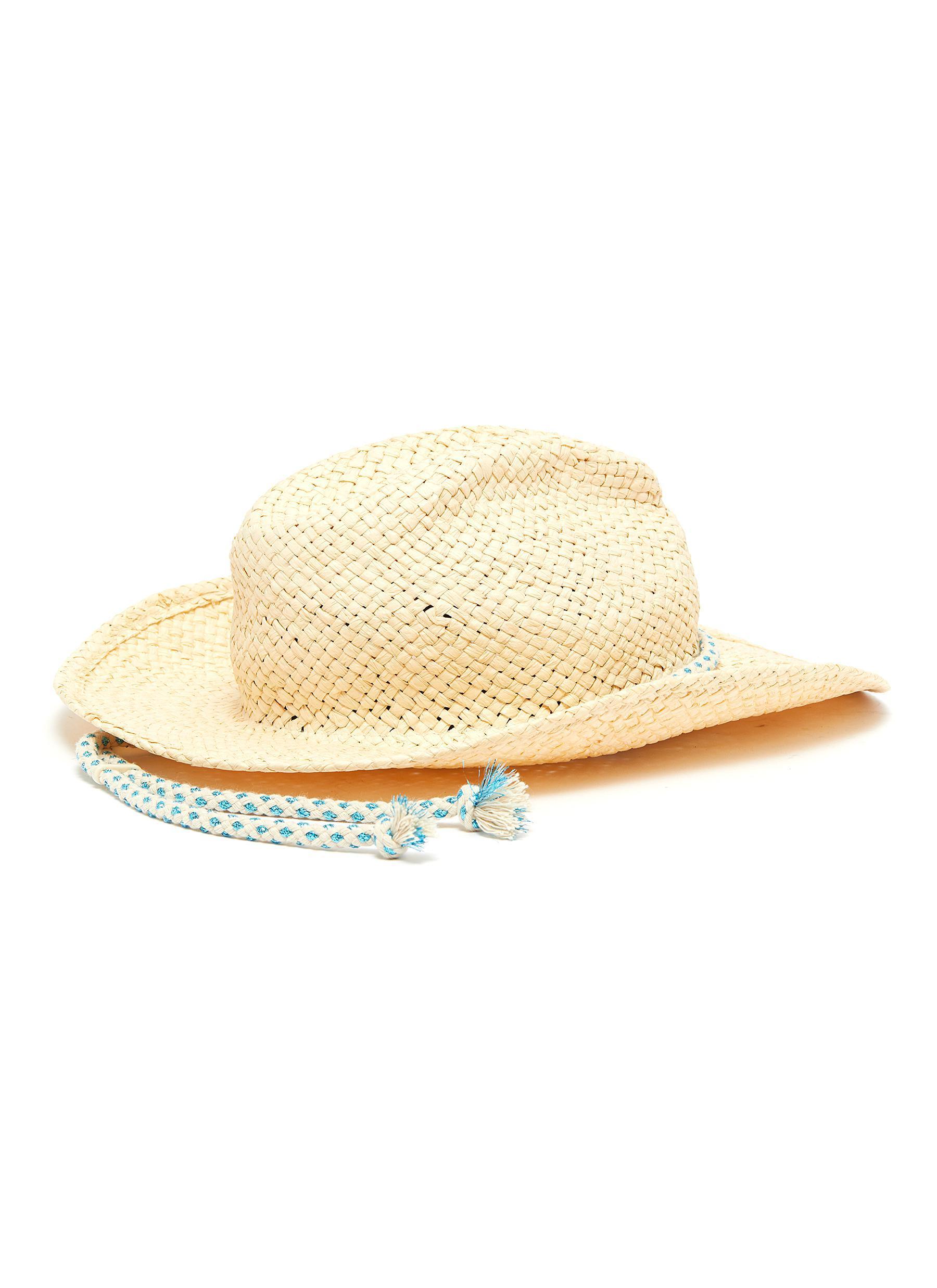 c10d2f55 Maison Michel 'austin' Rope Raffia Straw Cowboy Hat in Natural - Lyst