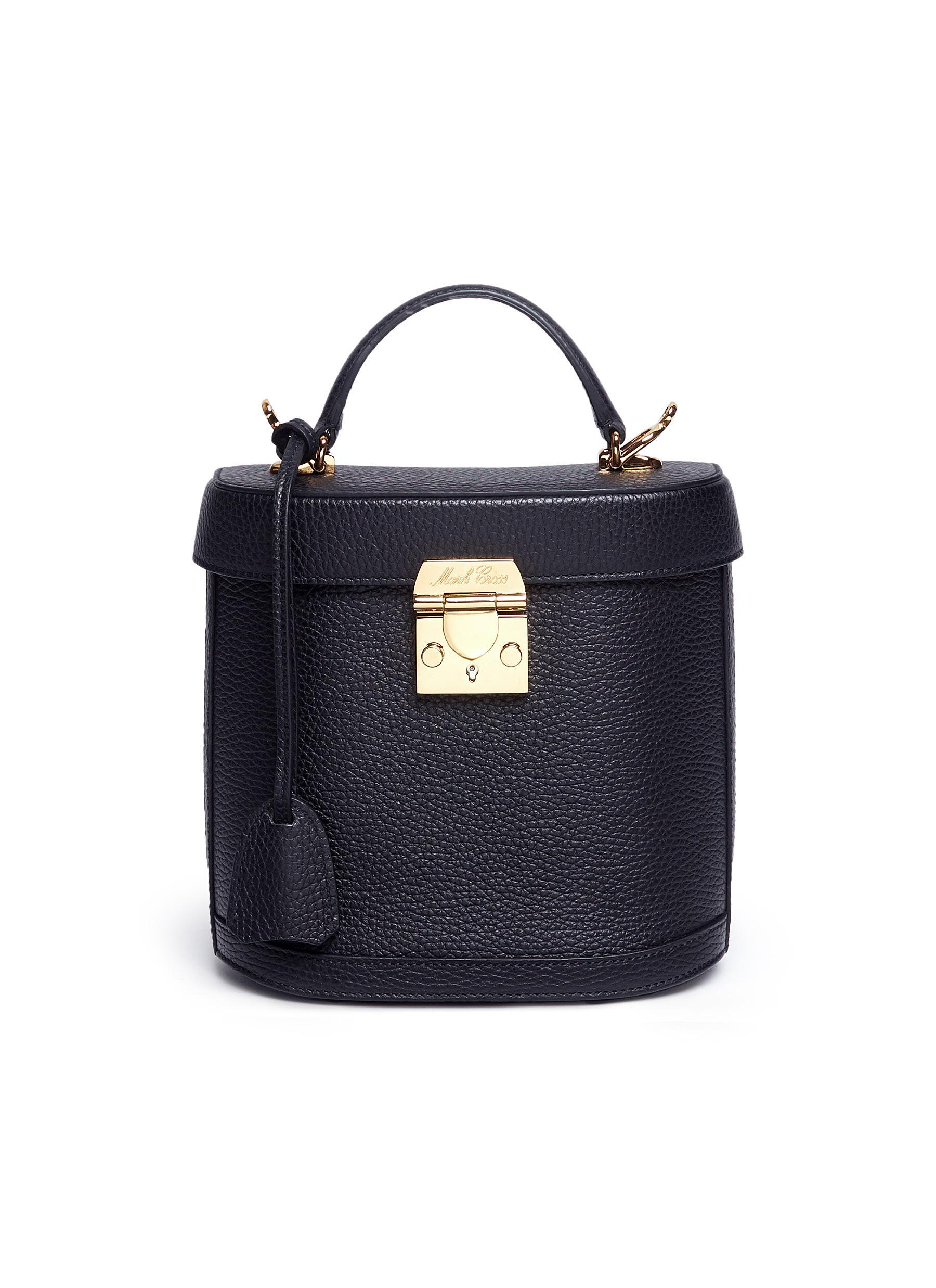 5e0e6b15cf Lyst - Mark Cross Benchley Grained-leather Shoulder Bag in Black ...