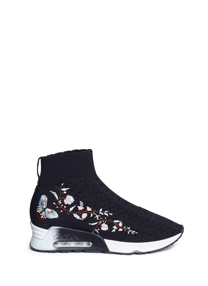 Lotus Black Knit Sneaker clearance genuine FaqSJoFZ