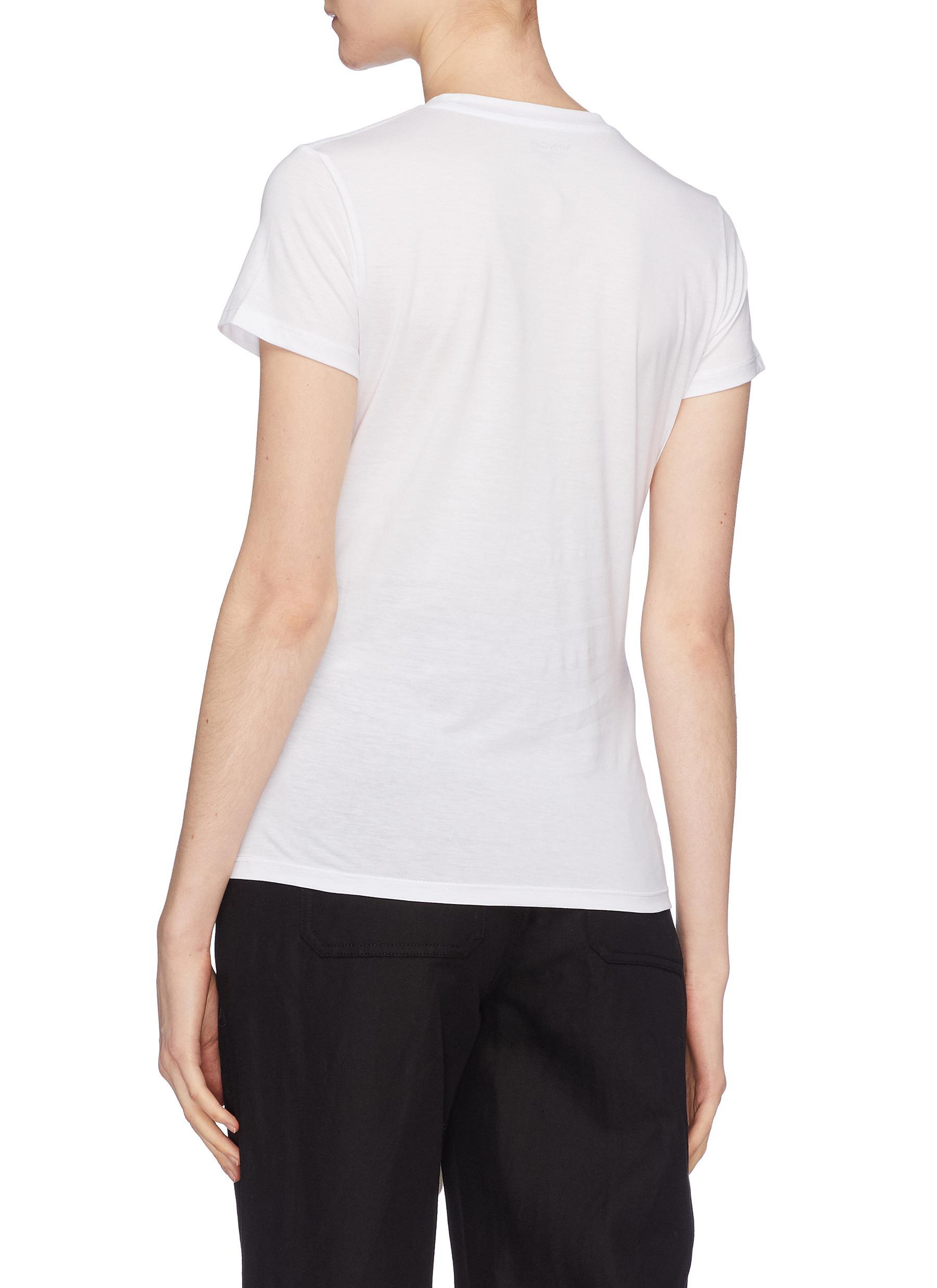 Lyst Vince Pima Cotton Slub Jersey T Shirt In White For Men