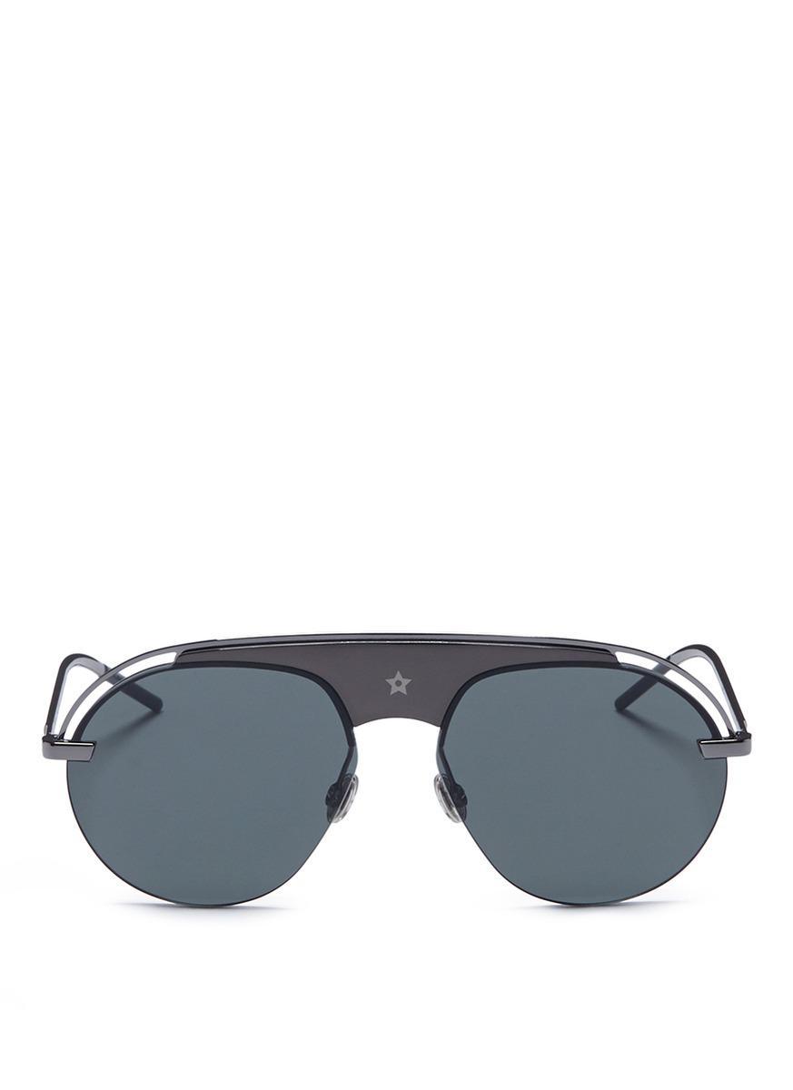 Exceptionnel Dior. Womenu0027s Gray U0027dio(r)evolutionu0027 Acetate Top Bar Metal Aviator  Sunglasses