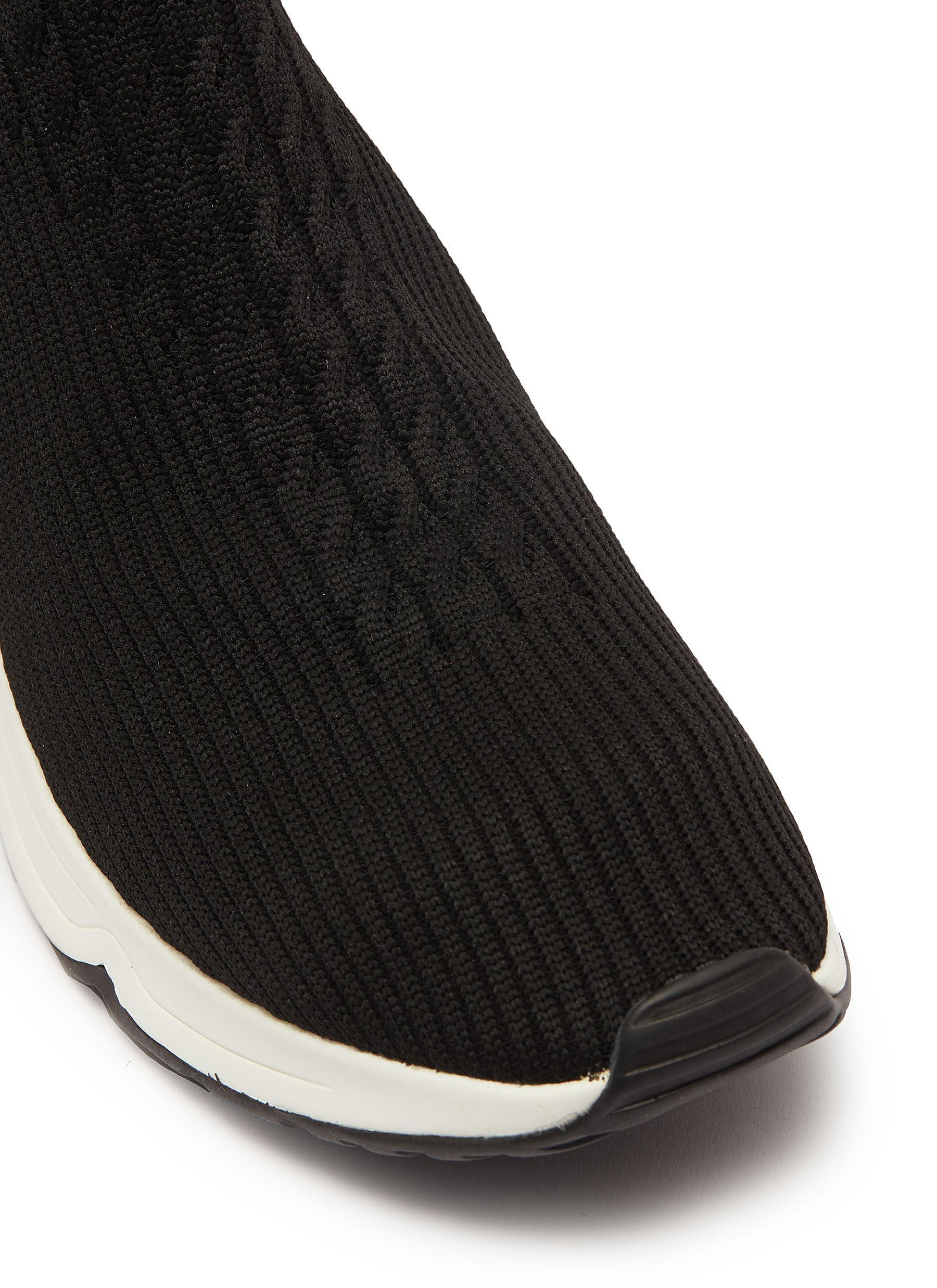 82a0b9322 Ash  lola  Thigh High Knit Sock Sneaker Boots in Black - Lyst