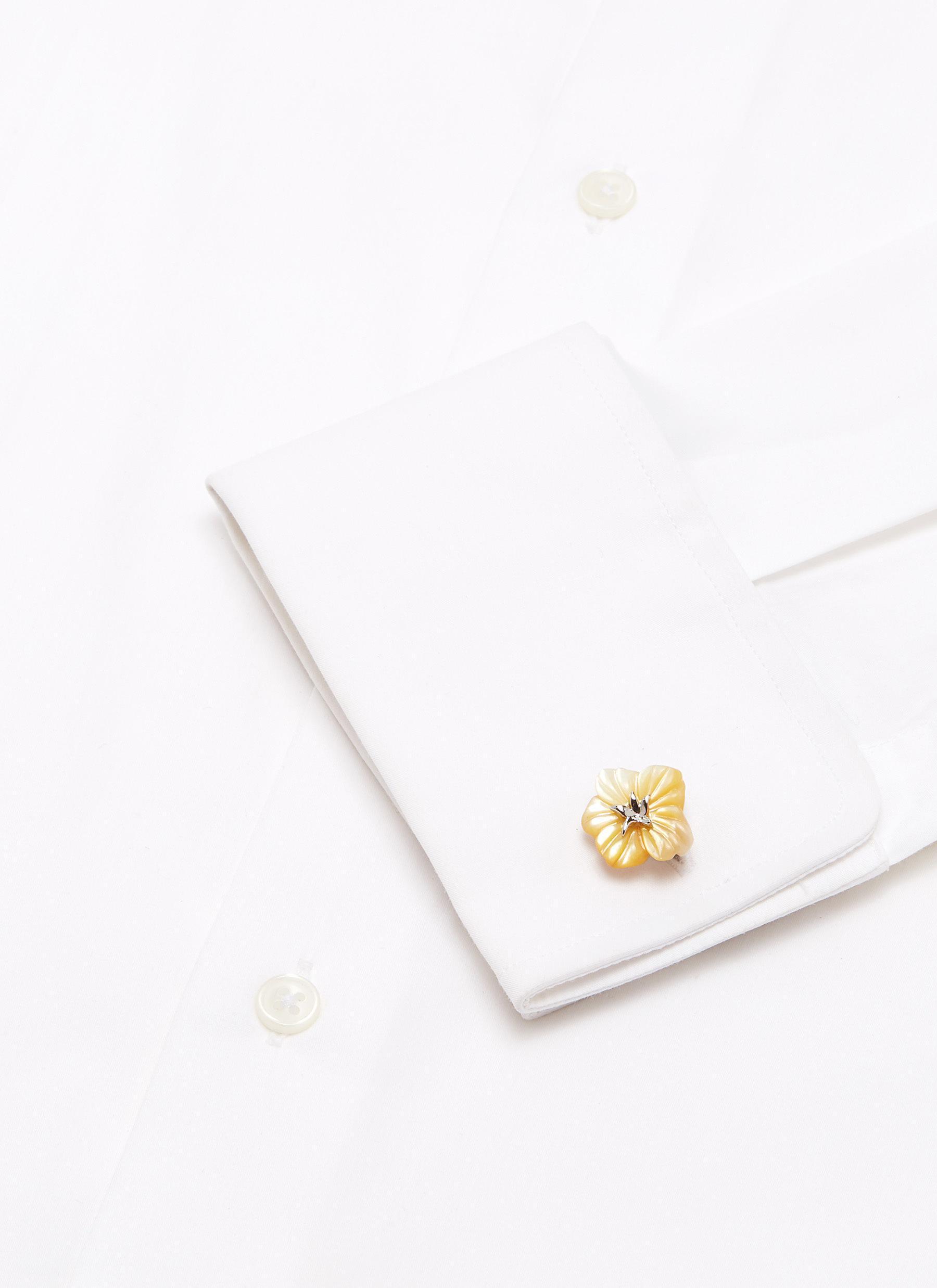 Babette Wasserman Rose Origami Square Cufflinks