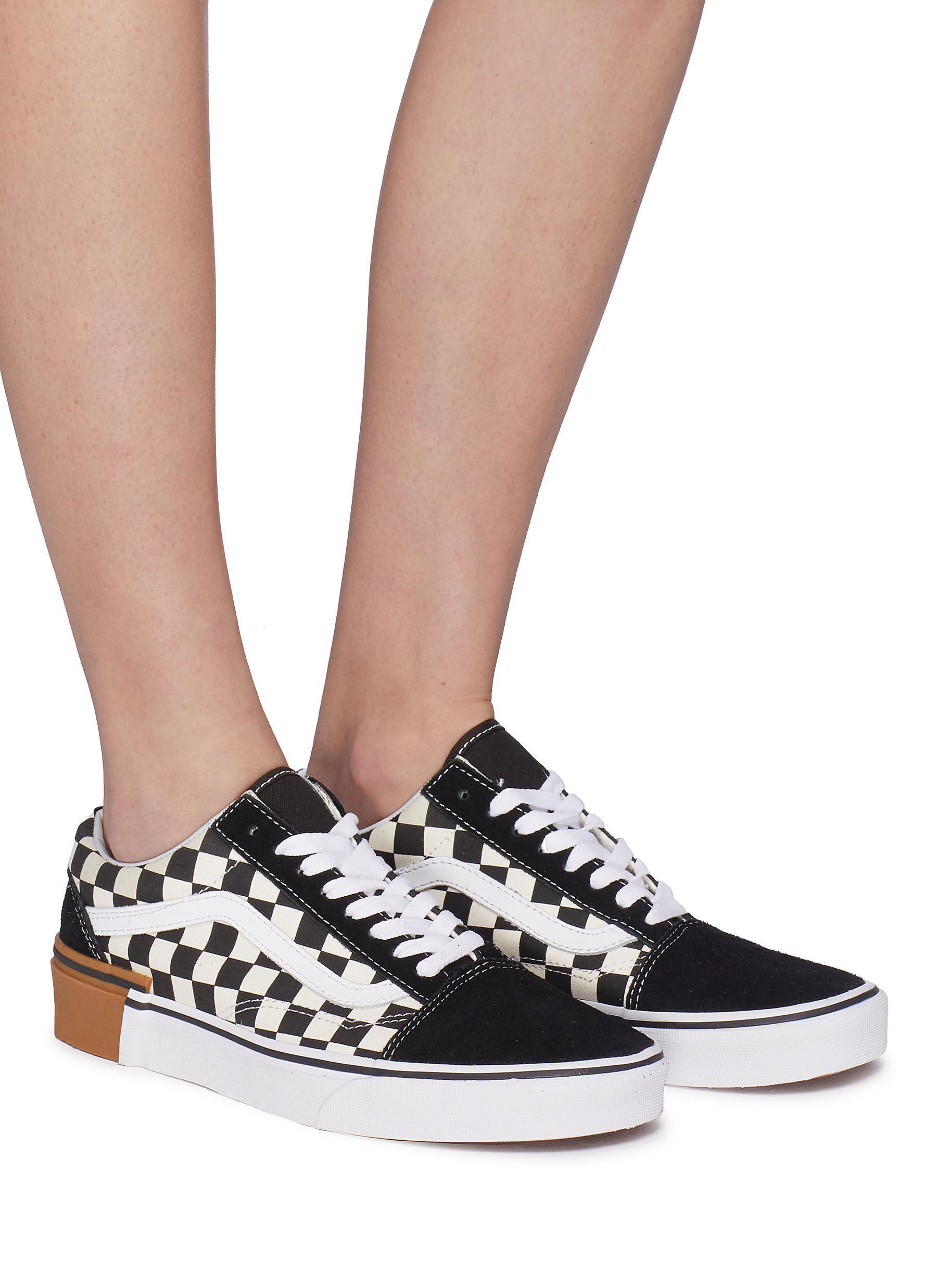 VANS OLD SKOOL Suede Gum Block Shoes Checkerboard