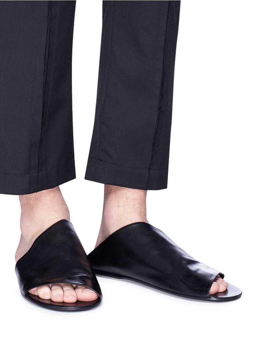 Sandals Marsèll Slide Black Leather 'arsella' 0wn8mNv