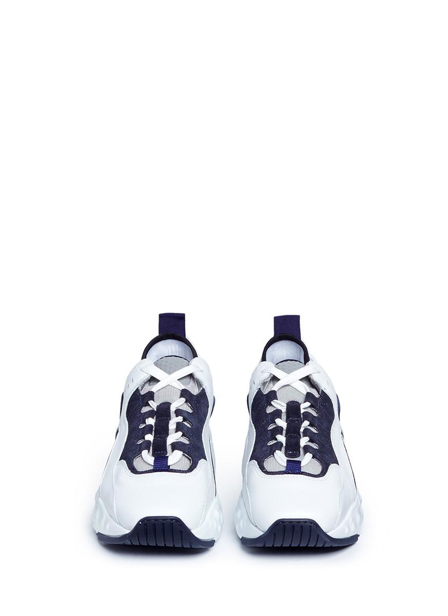 Acne Studios 'manhattan' Leather Sneakers in White