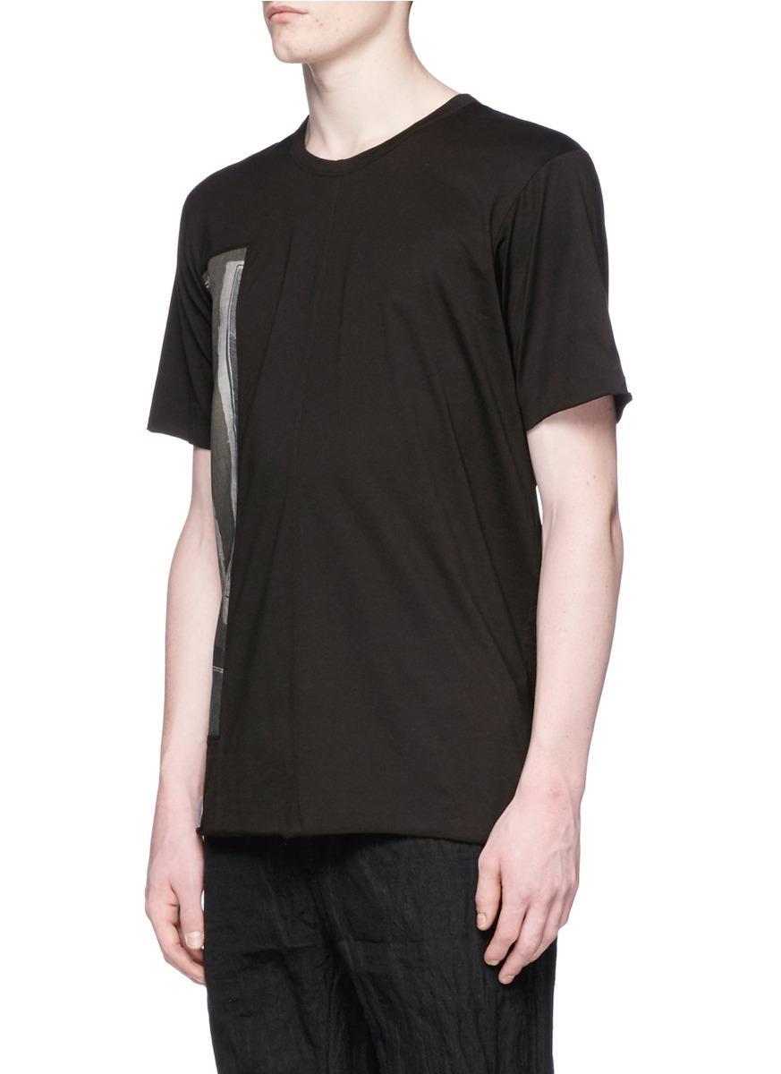 K Chen Ahaus lyst ziggy chen renaissance patch t shirt in black for