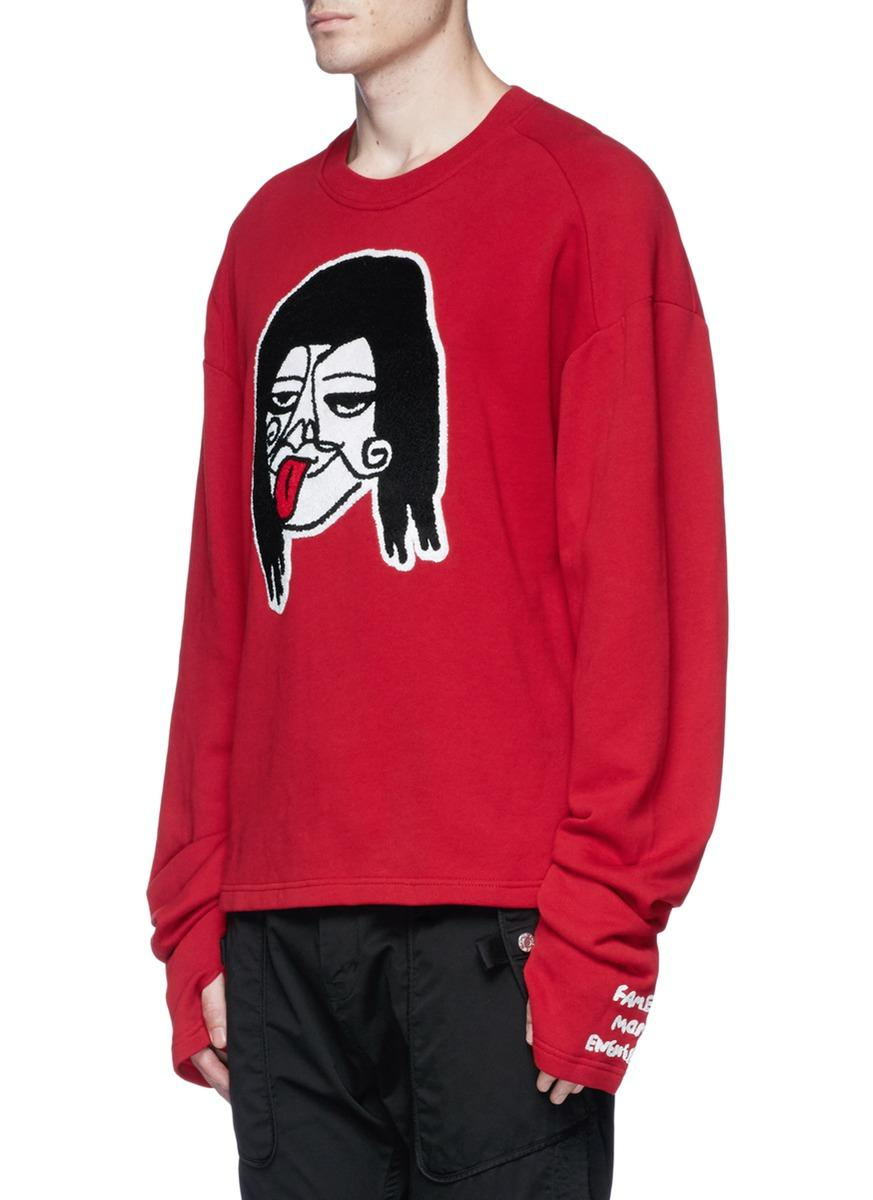 Haculla Cotton Character Appliqué Sweatshirt for Men