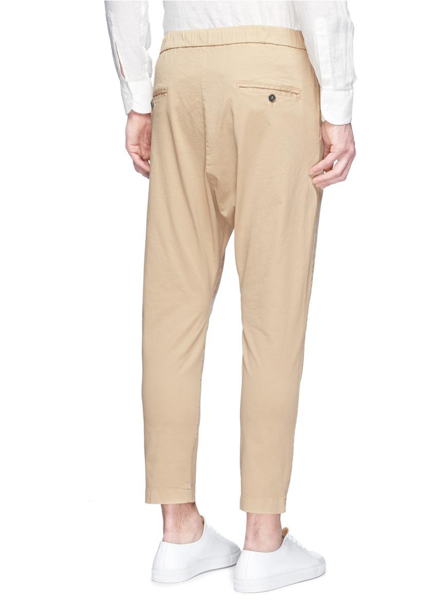 Barena Cotton 'arenga Stino' Elastic Waist Cropped Pants in Brown for Men