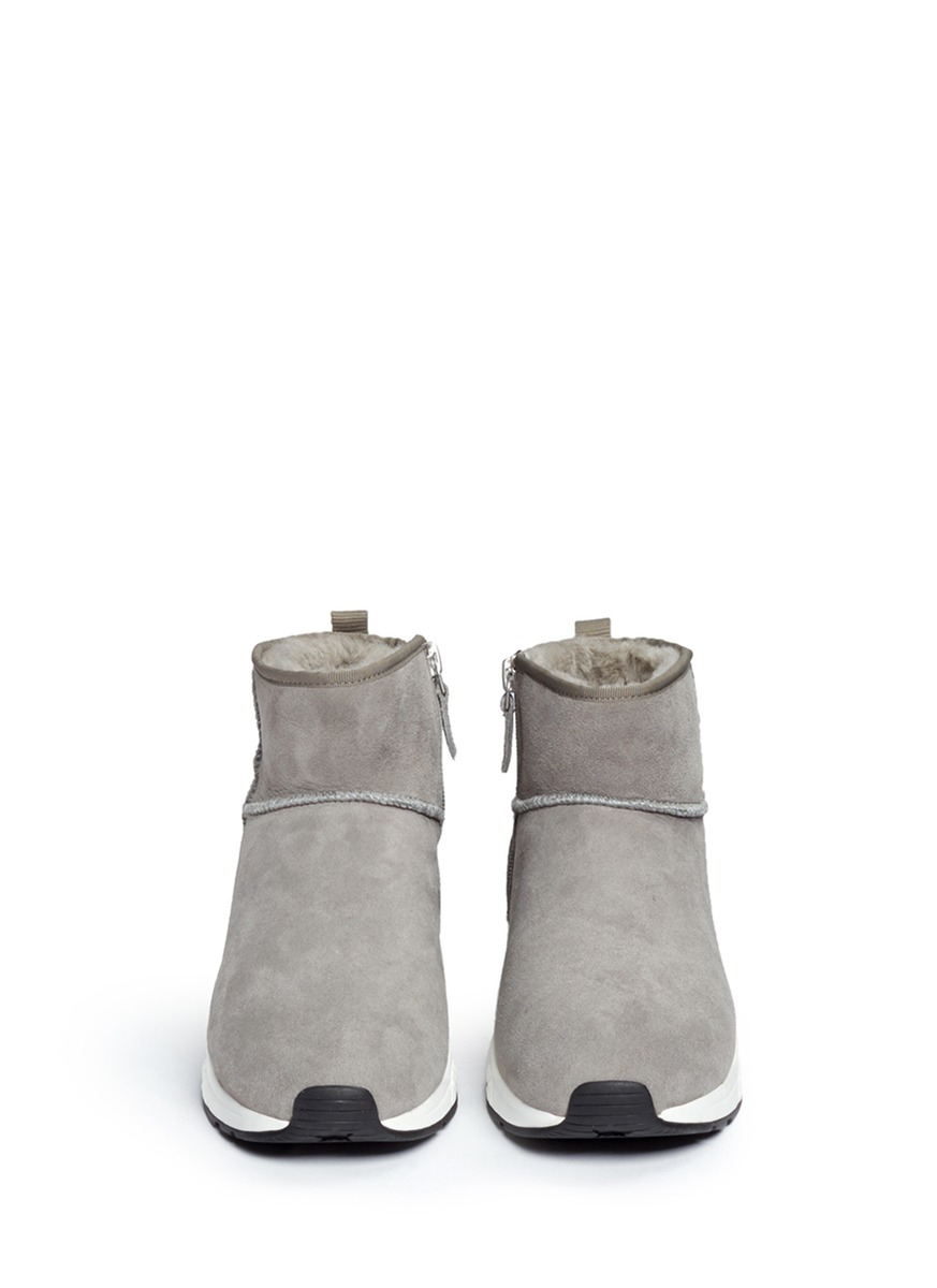 Ash Rubber 'miko' Shearling Ankle Boots