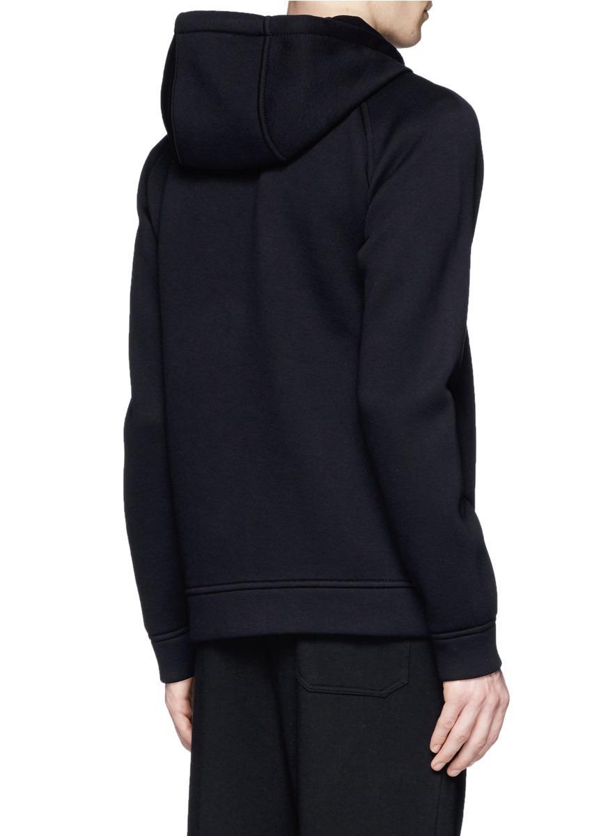 T By Alexander Wang Neoprene Zip-up Hoodie in Black for Men