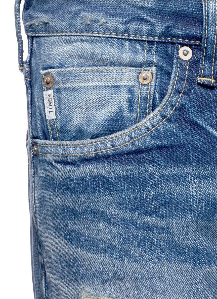 FDMTL Denim 'trace Case Study 27' Sashiko Selvedge Jeans in Blue for Men
