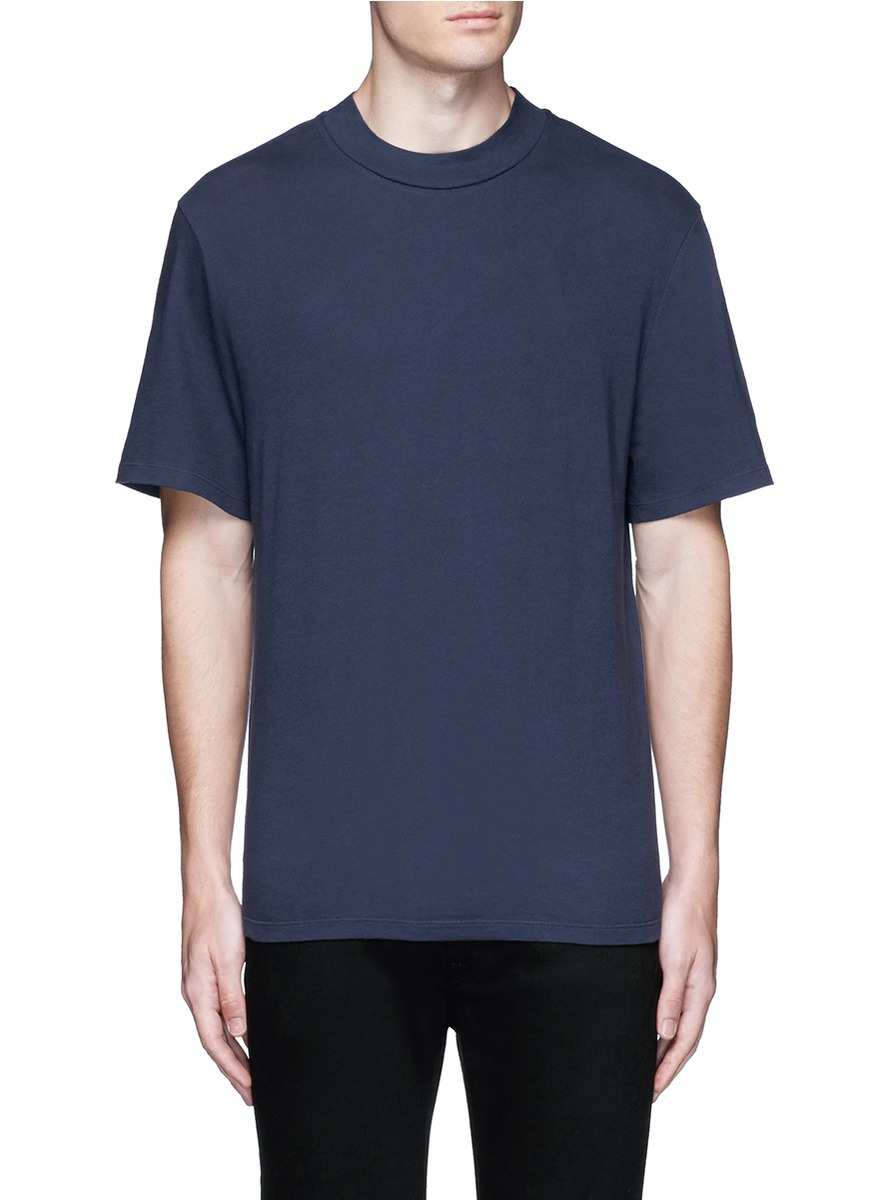 lyst t by alexander wang high crew neck cotton jersey t ForHigh Crew Neck T Shirts