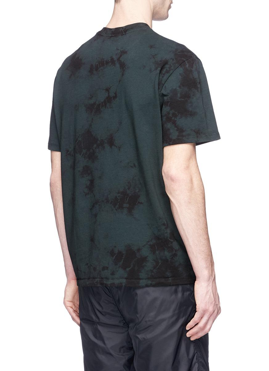 Alexander Wang Barcode Logo Print Tie Dye T Shirt For Men