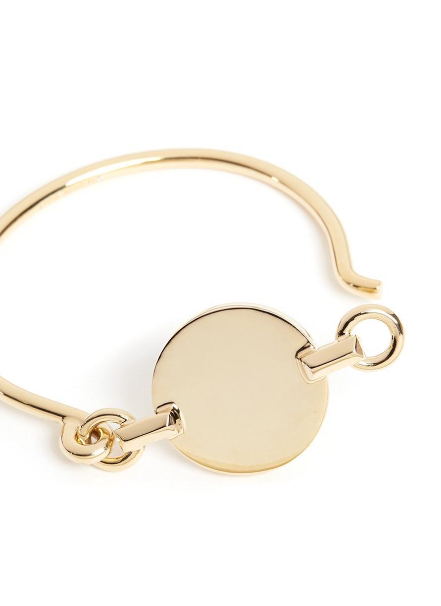 Eddie Borgo 'token Tension' 12k Gold Plated Cuff in Metallic